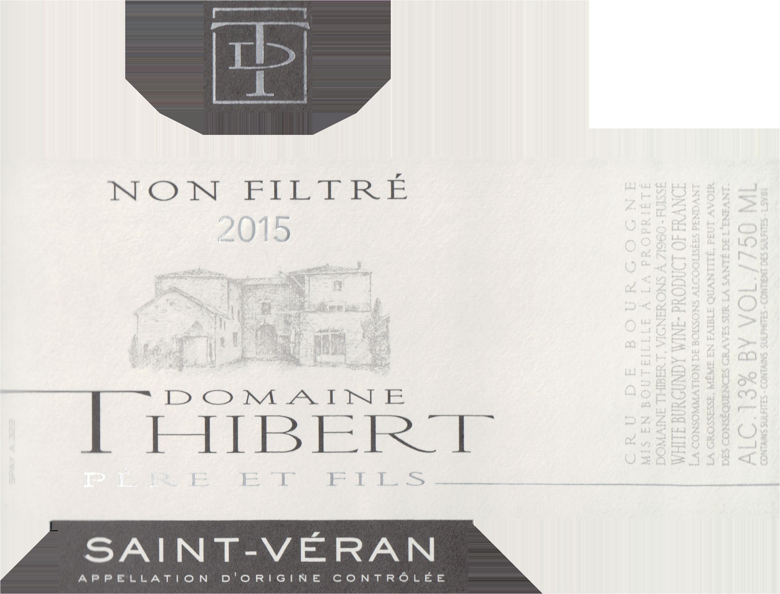 Domaine Thibert Saint Veran 2015