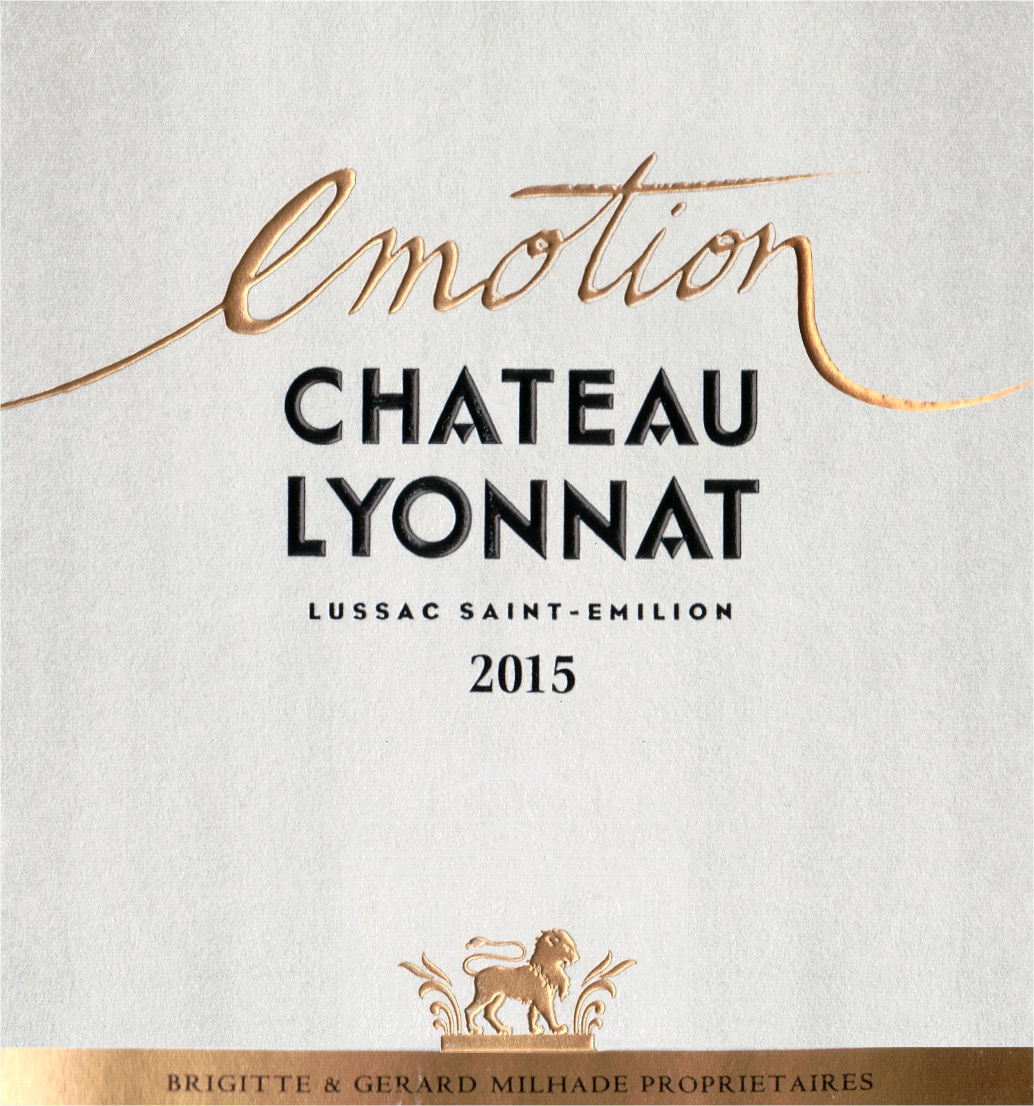 Chateau Lyonnat Lussac St Emilion Emotion 2015