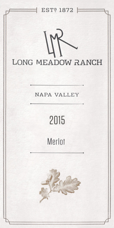 Long Meadow Ranch Estate Merlot 2015