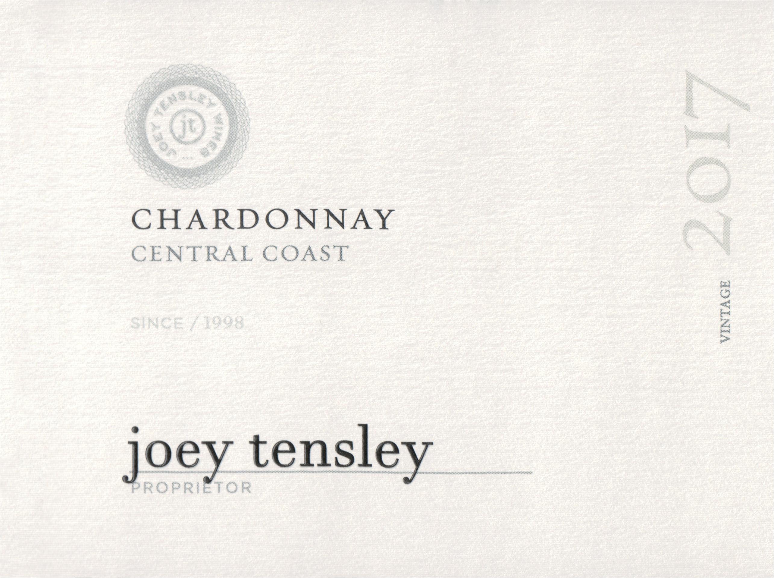 Joey Tensley Central Coast Chardonnay 2017