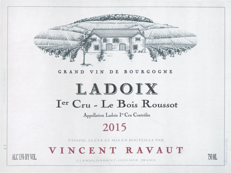 Domaine Vincent Ravaut Ladoix Bois Roussot 1er Cru 2015