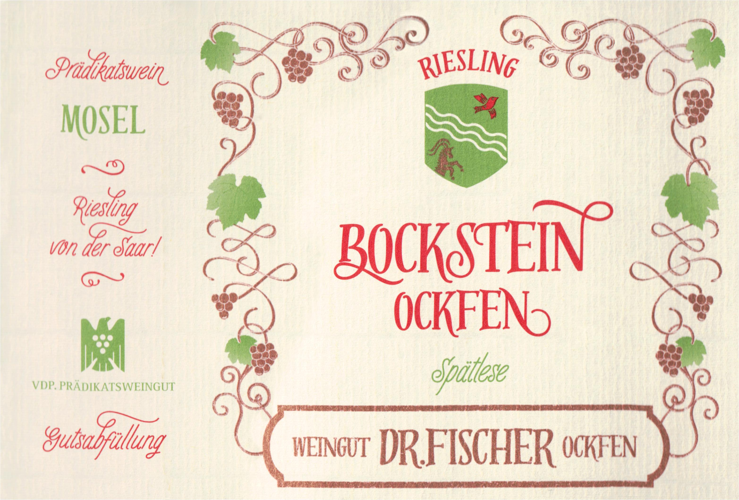 Dr. Fischer Bockstein Spatlese Riesling 2016