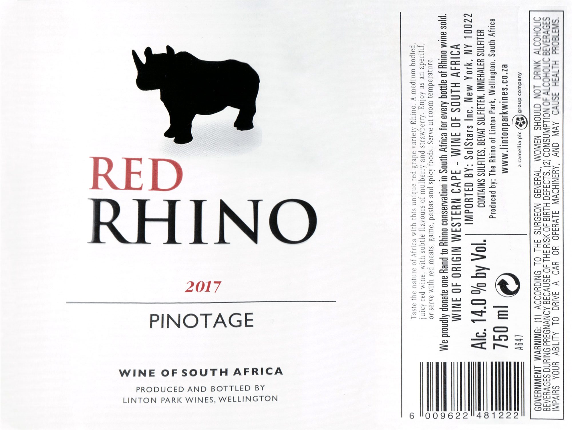 Red Rhino Pinotage 2017
