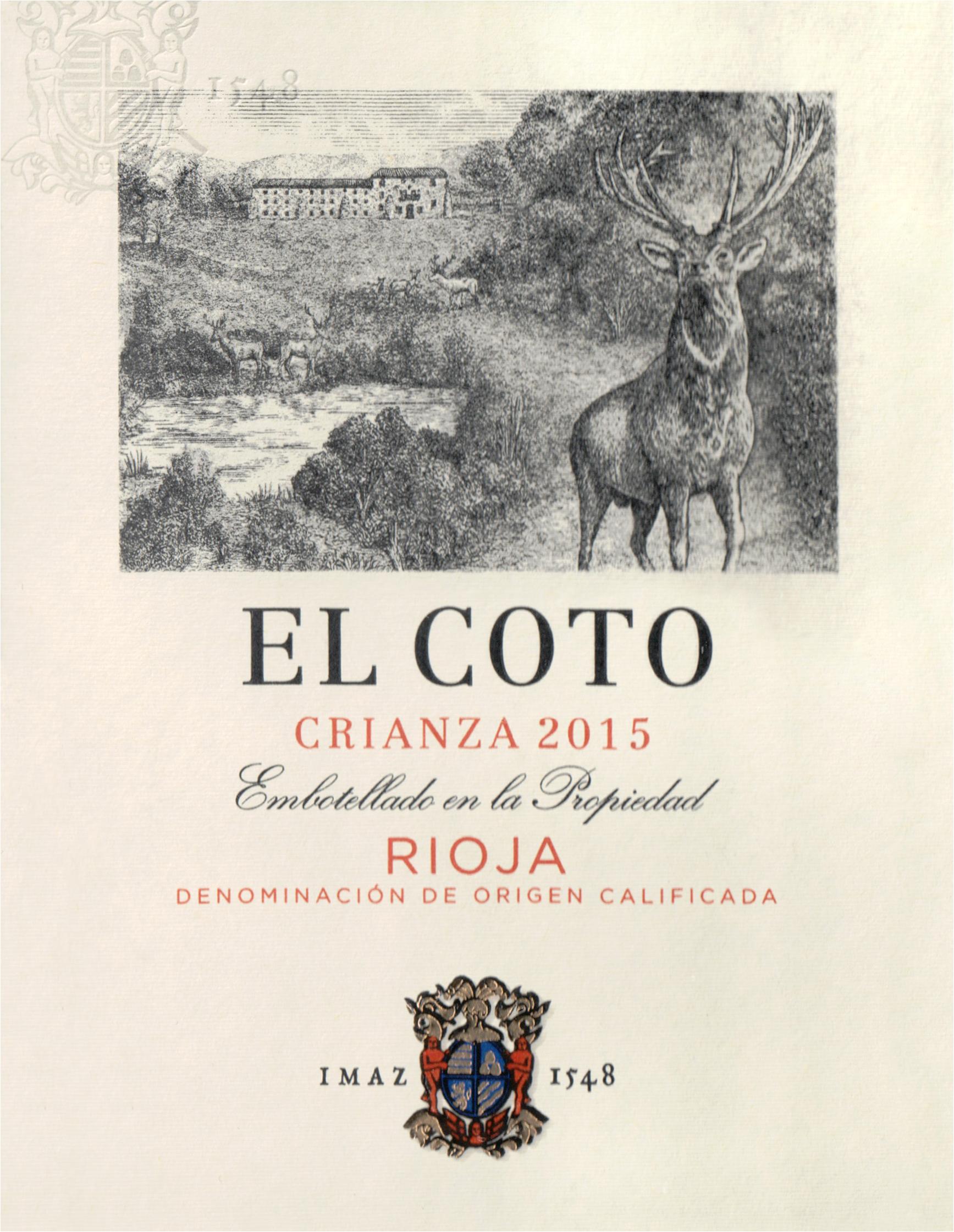 El Coto Rioja Crianza 2015