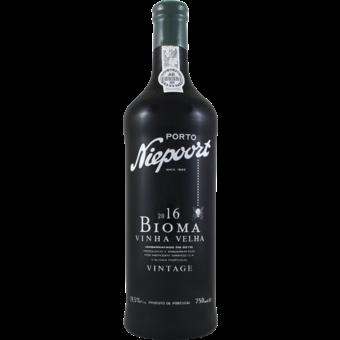 Bottle shot for 2016 Niepoort Bioma Vintage Port