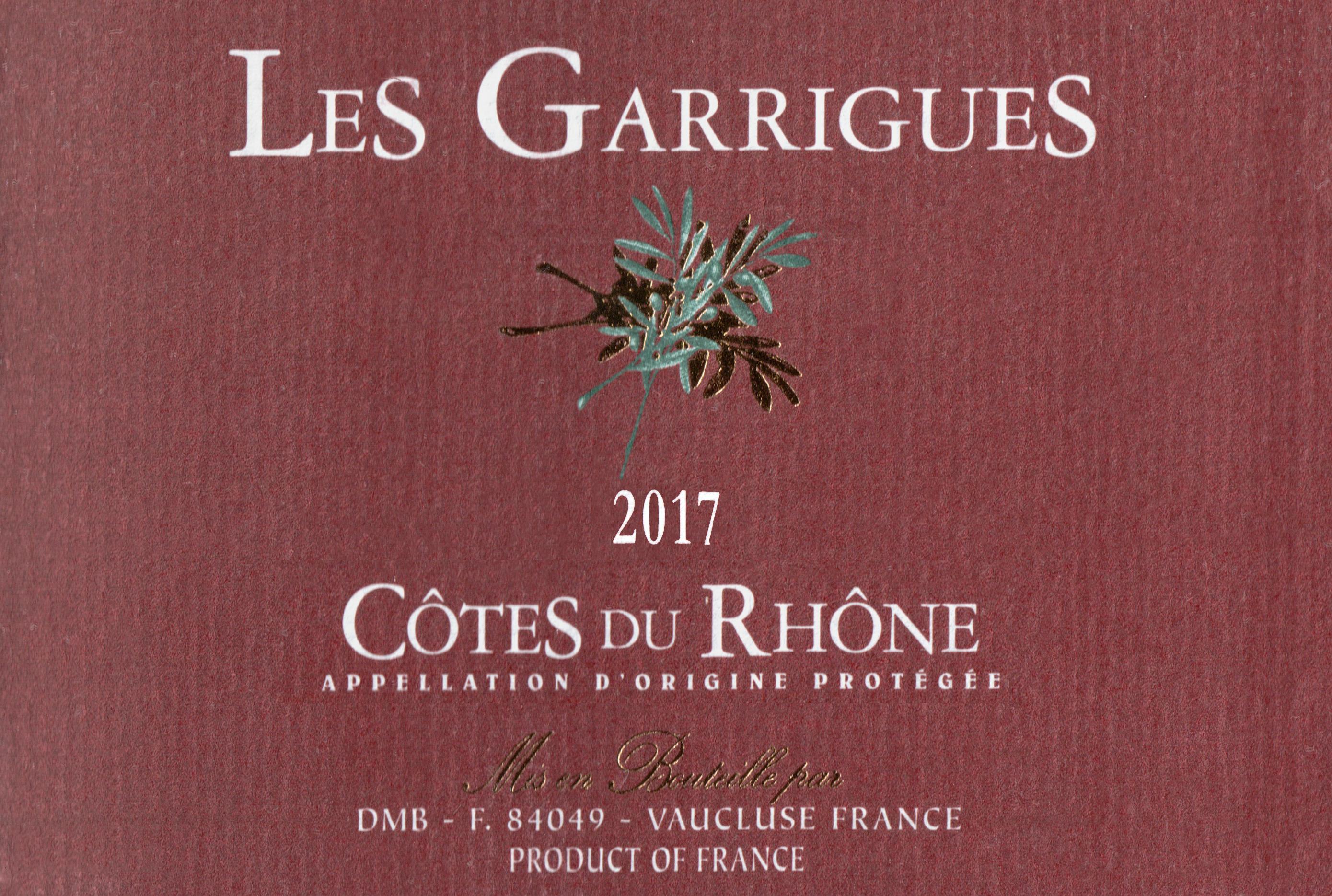 Les Garrigues Cotes Du Rhone 2017