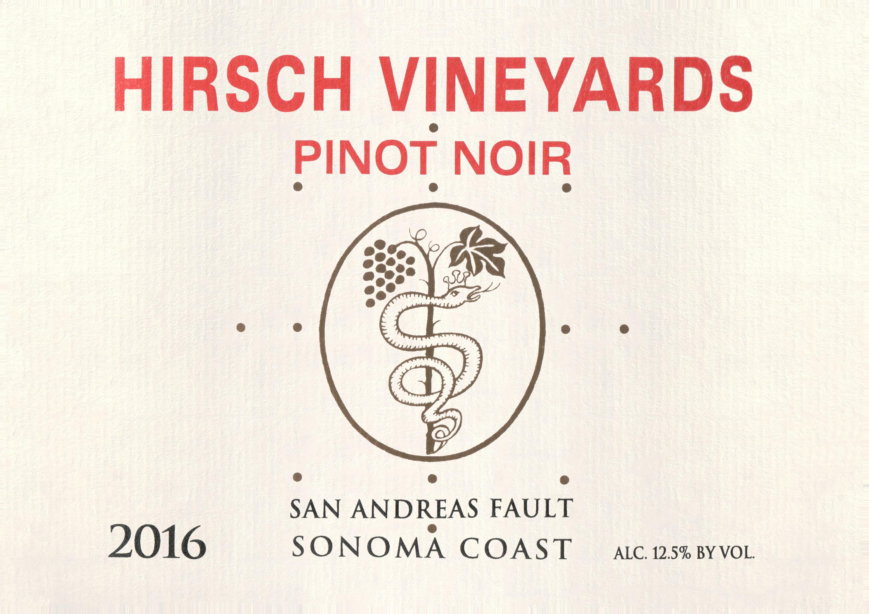 Hirsch San Andreas Fault Pinot Noir 2016