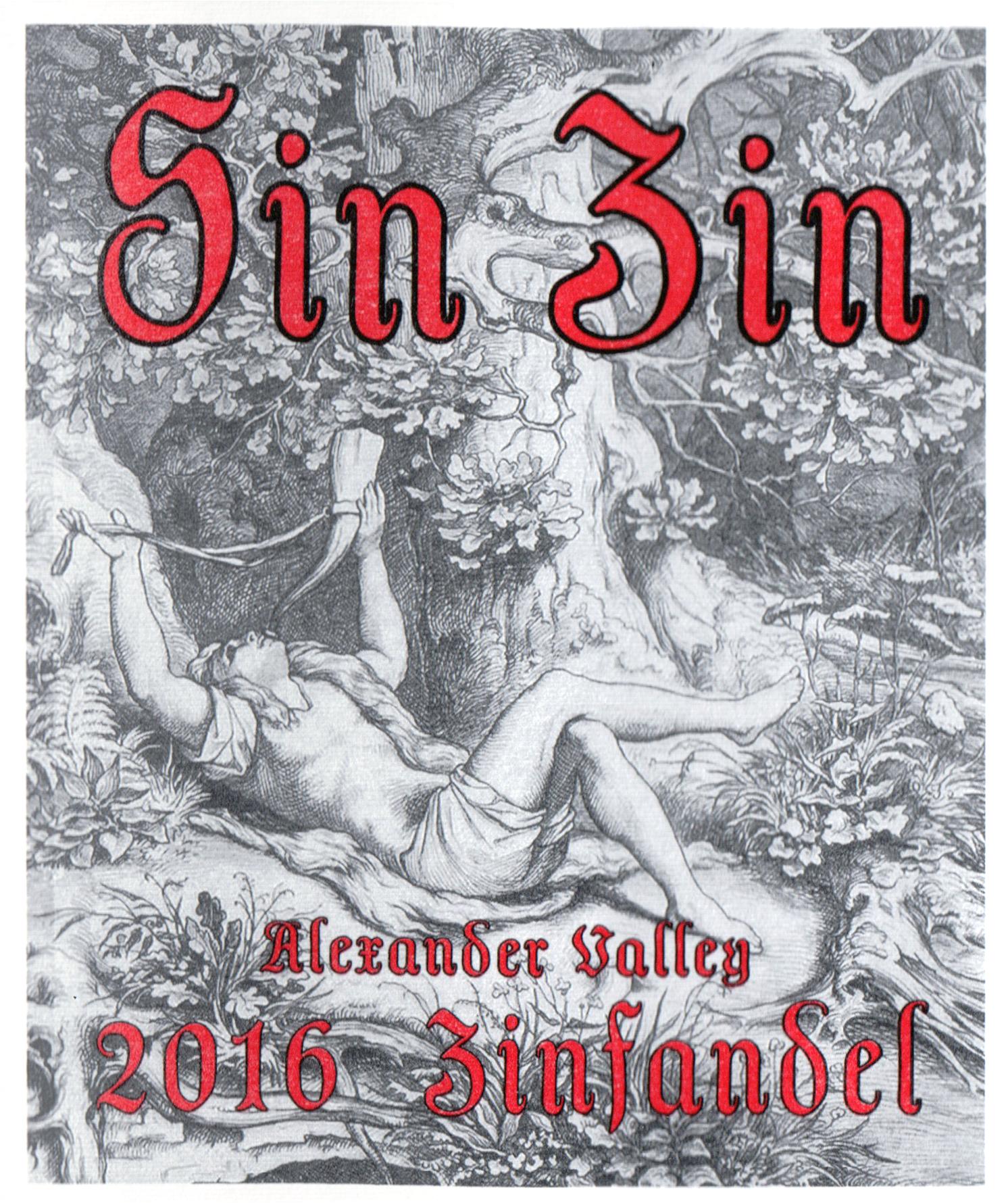 Alexander Valley Sin Zin 2016