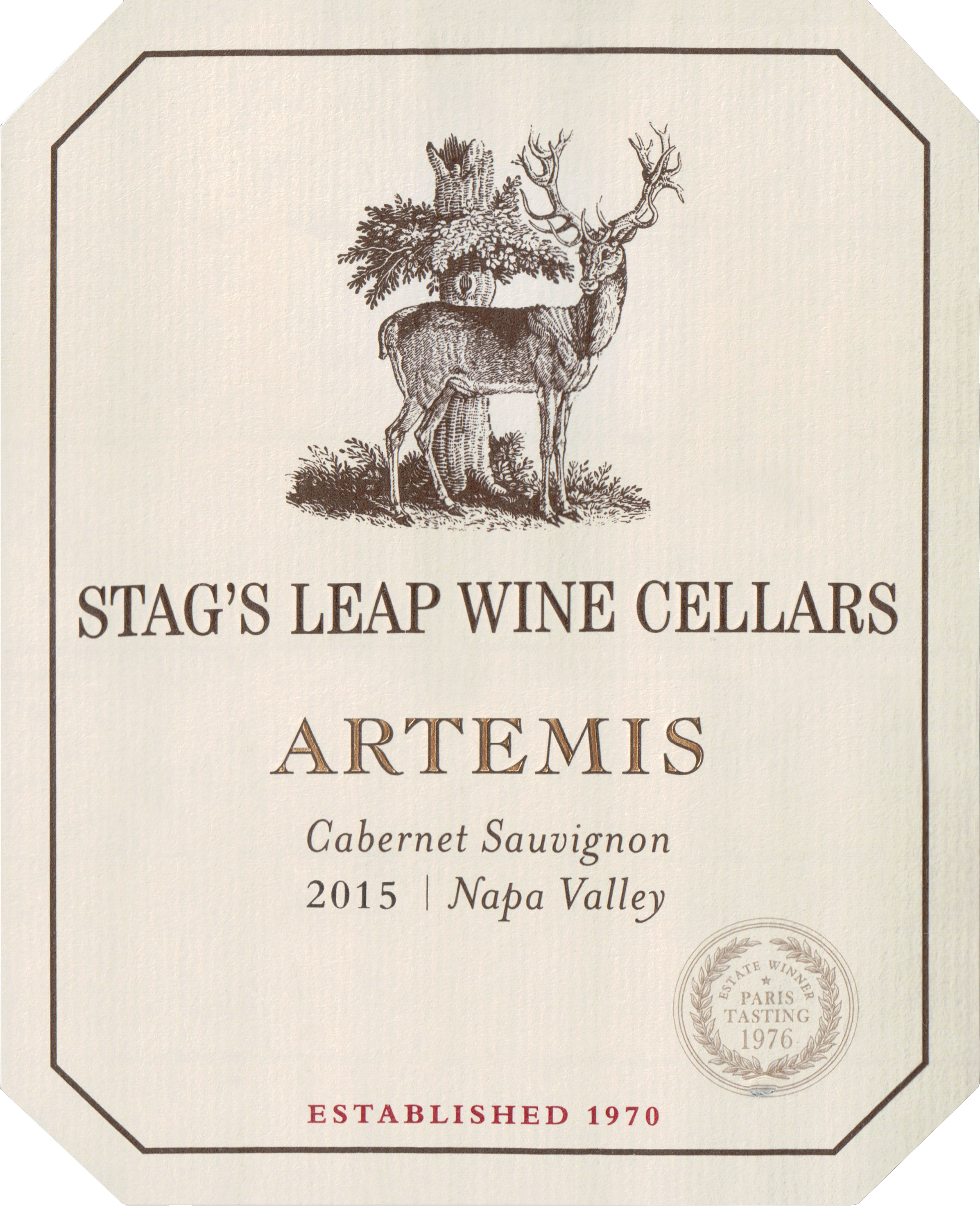 Stags Leap W.C. Artemis Cabernet Sauvignon Half Bottle 2015