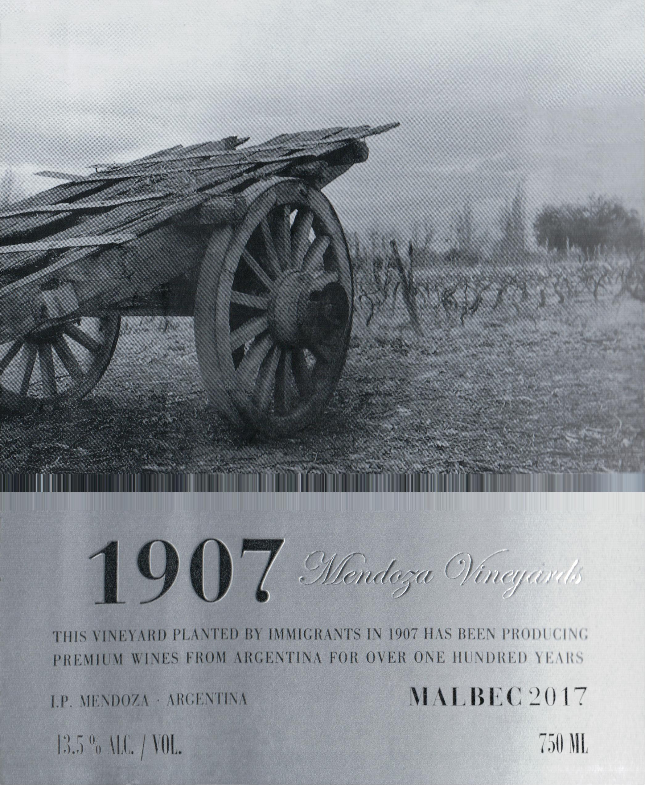 Mendoza Vineyards Malbec 1907 2017
