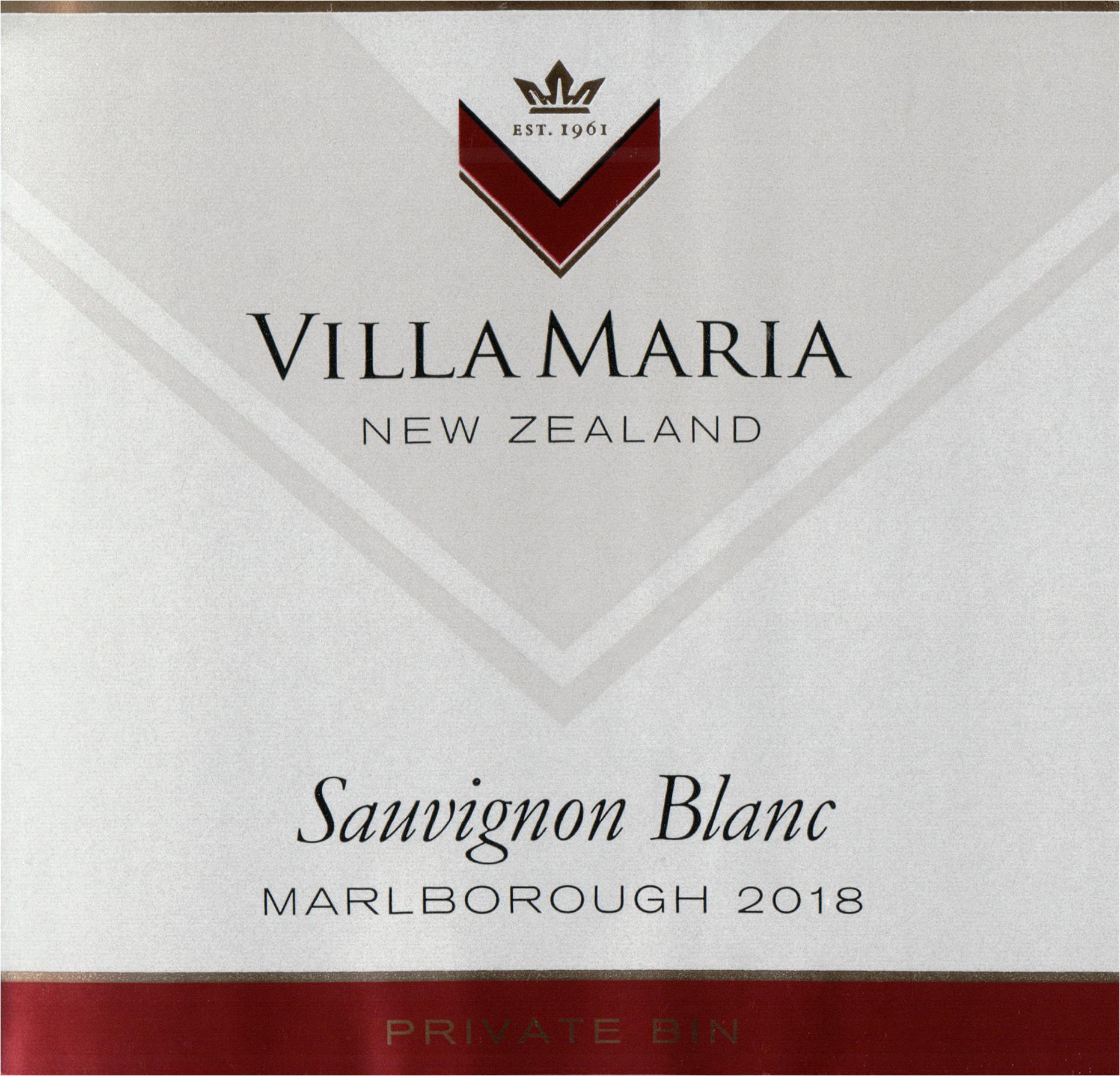 Villa Maria Private Bin Sauvignon Blanc 2018