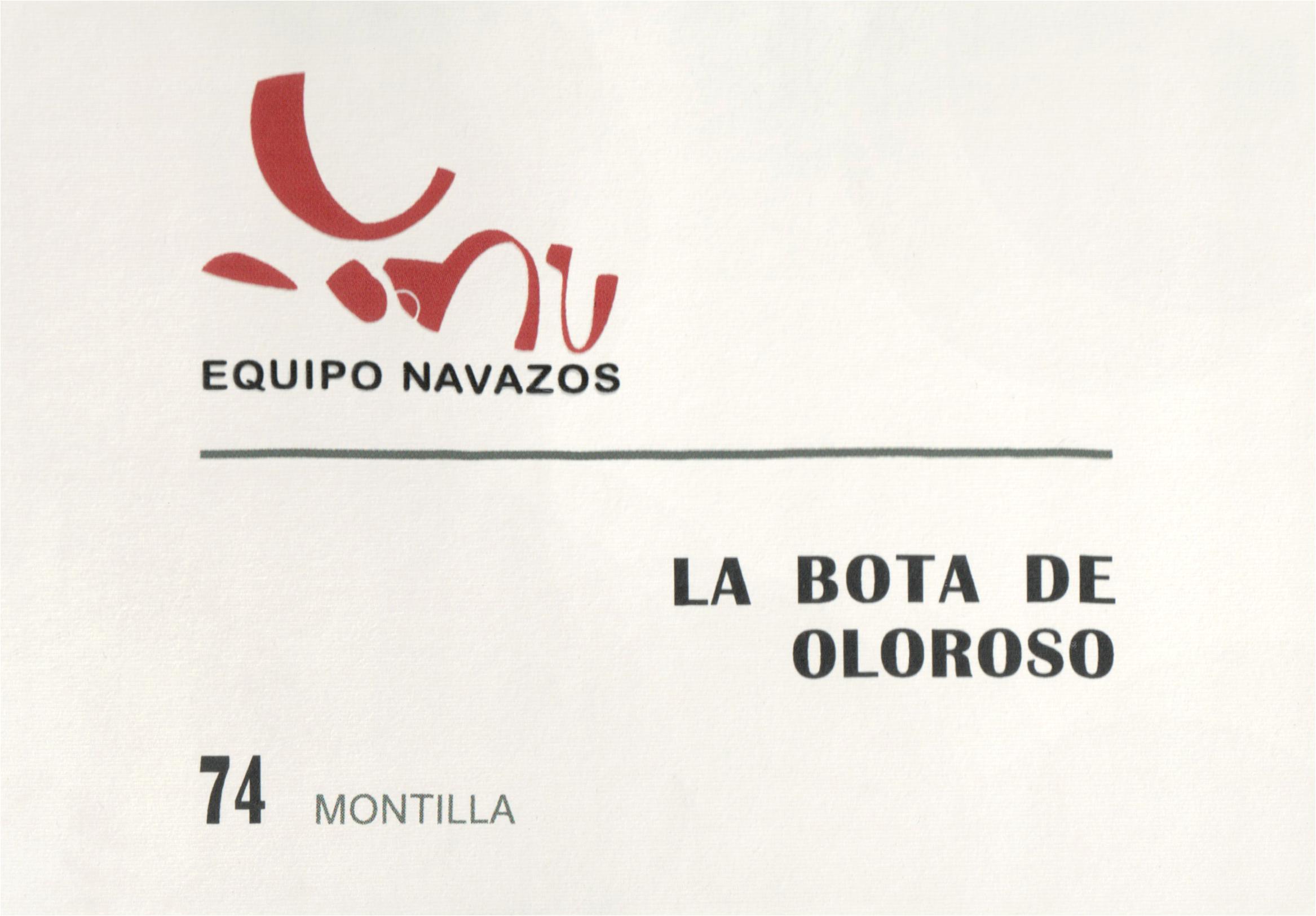 Equipo Navazos La Bota De Oloroso Montilla #74
