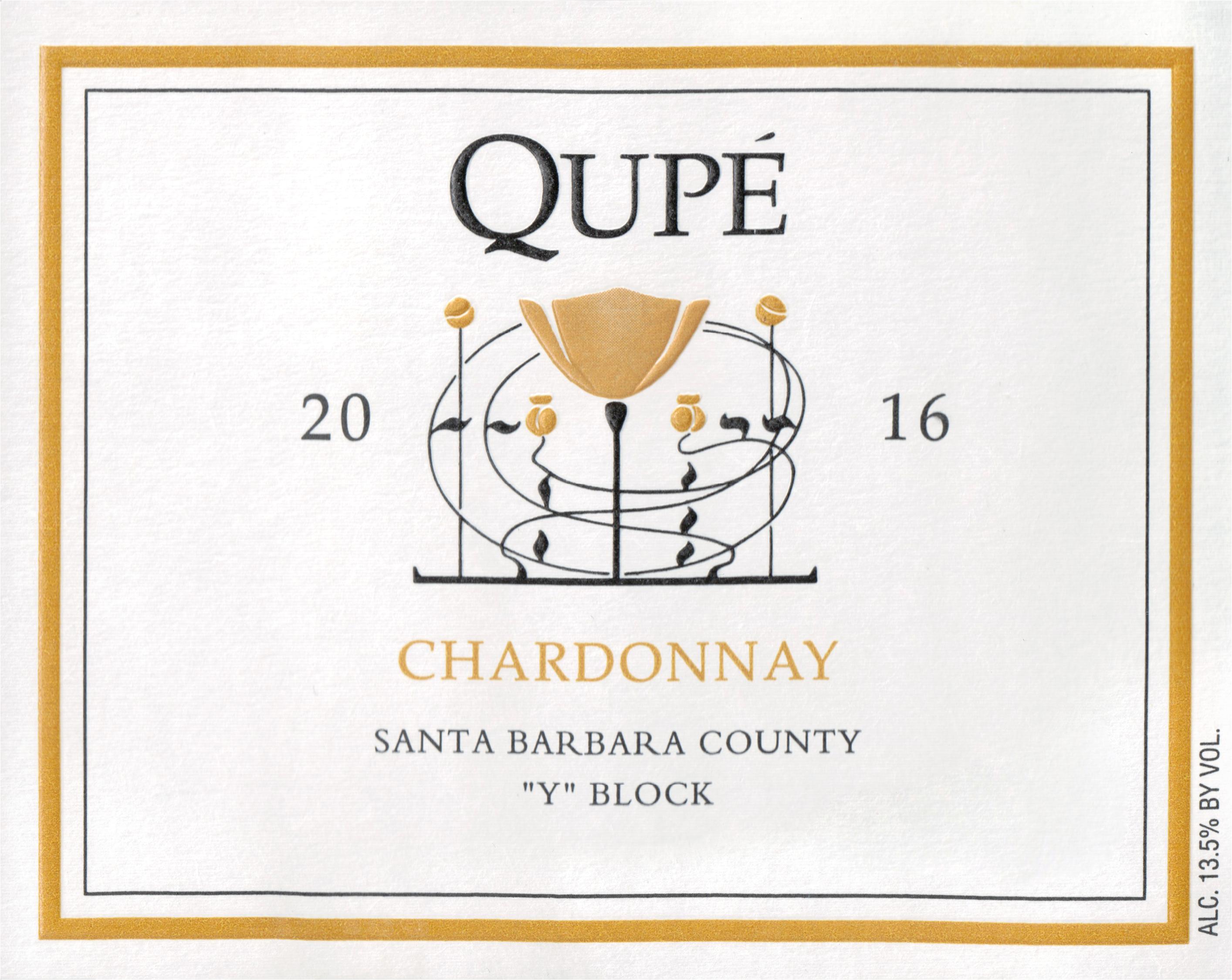 Qupe Y Block Chardonnay Bien Nacido 2016