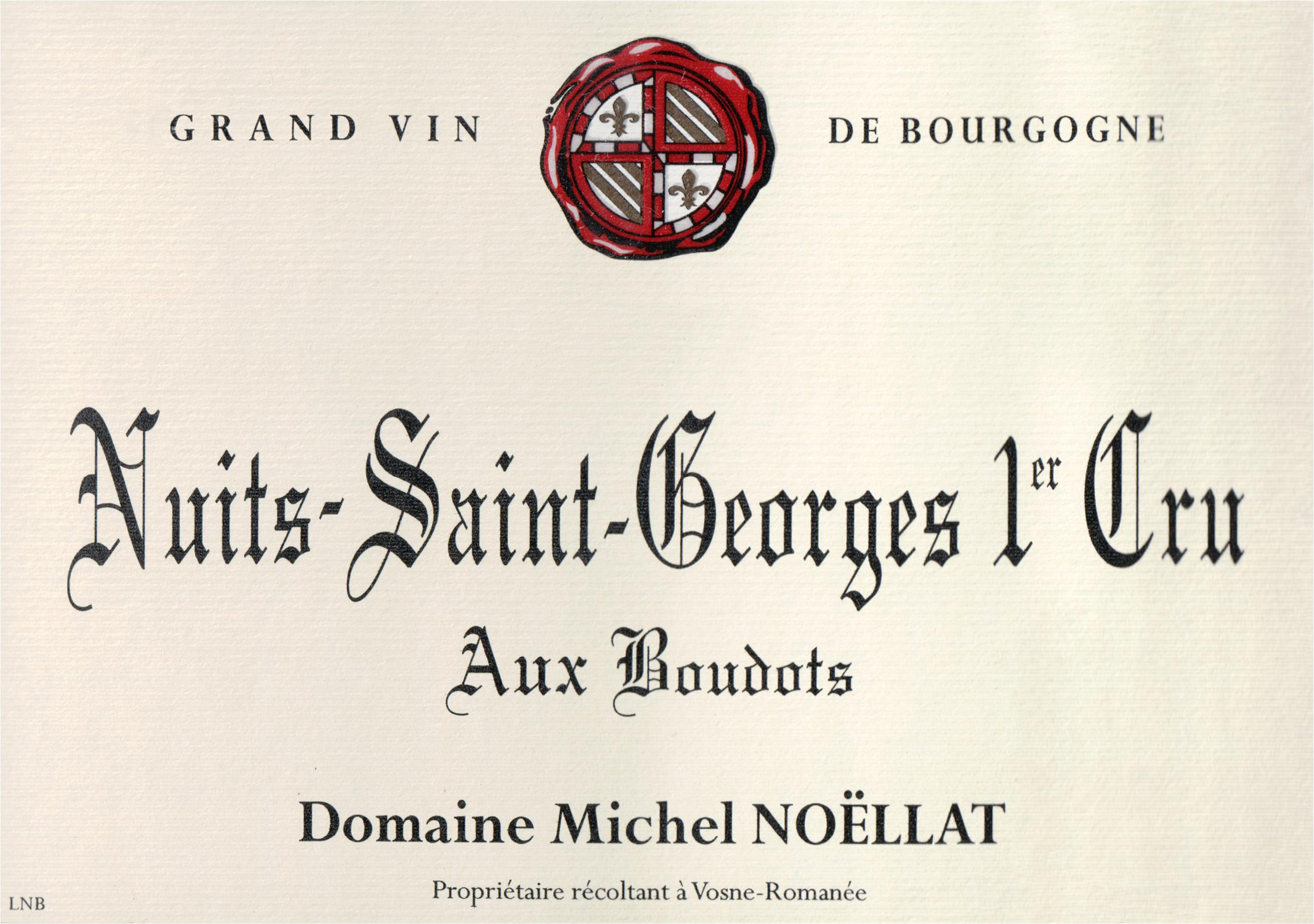 Michel Noellat Nuits St Georges Les Boudots 1er Cru 2016