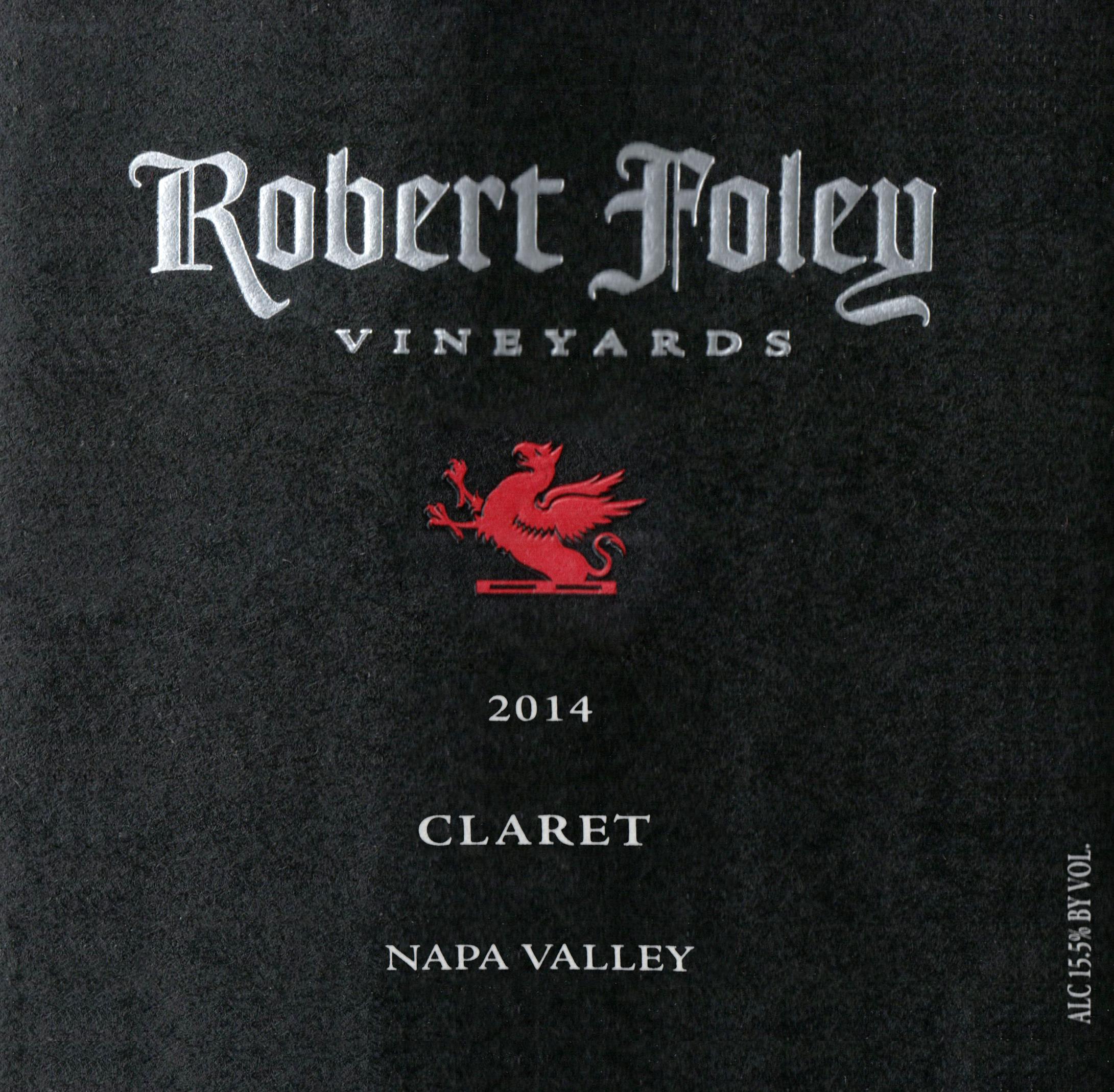 Robert Foley Vineyards Claret 2014