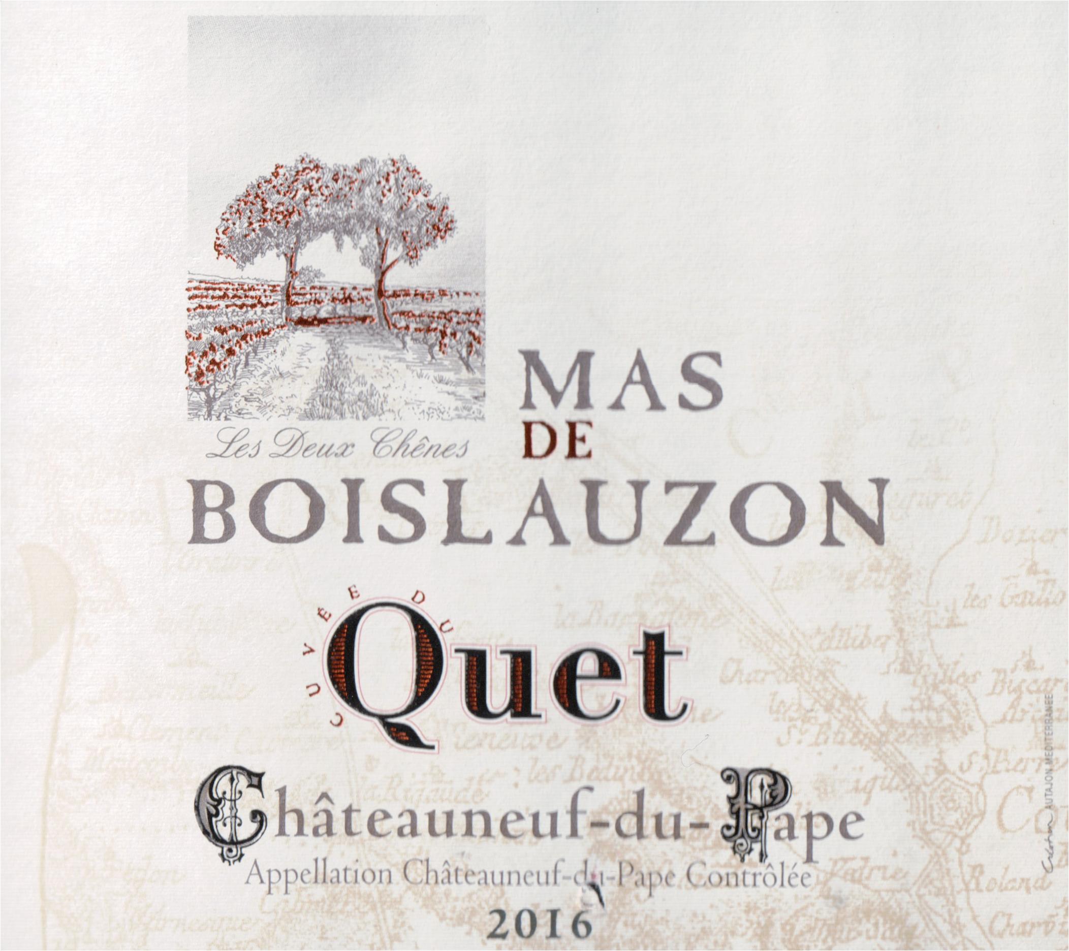 Mas De Boislauzon Cuvee Du Quet Chateauneuf Du Pape 2016