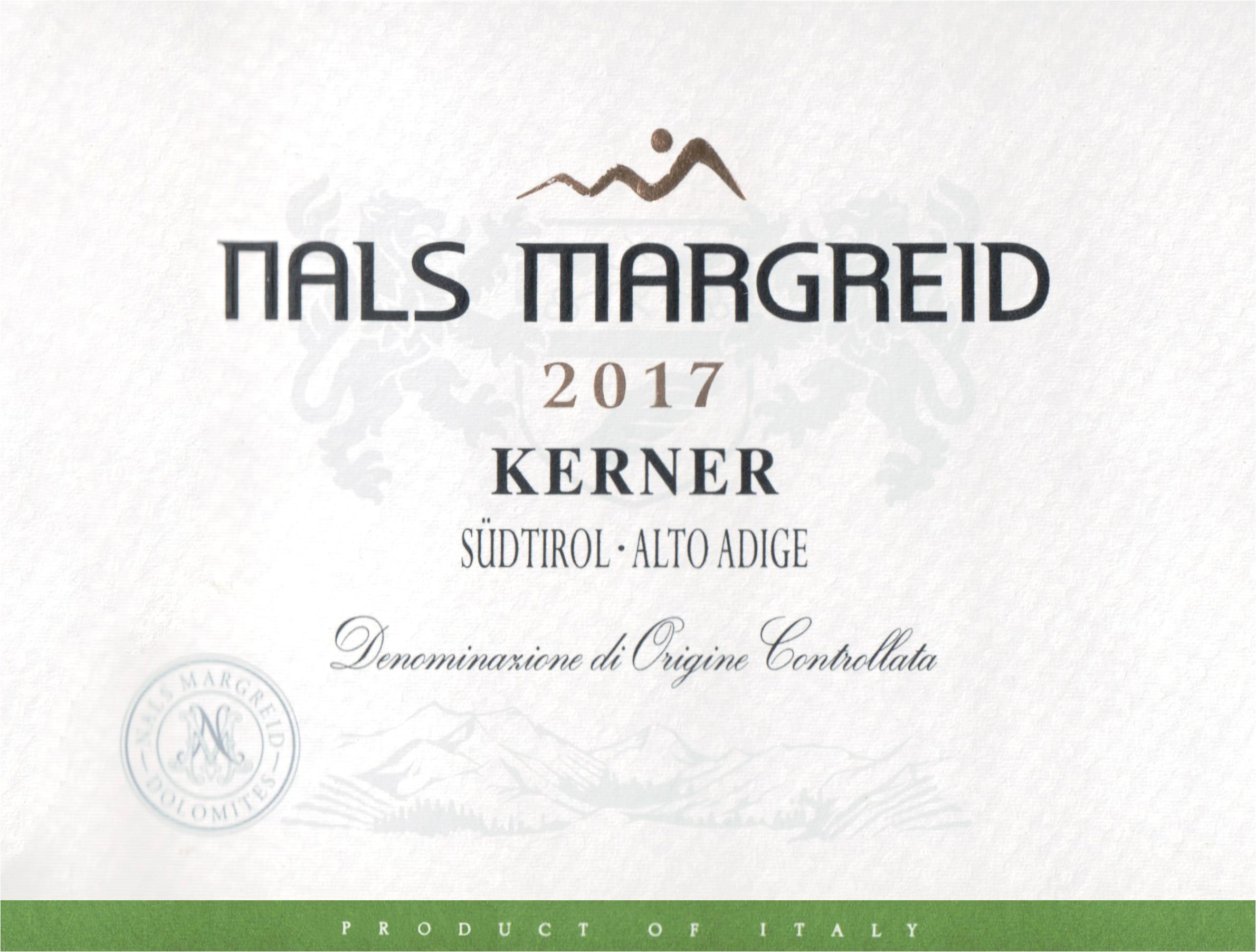 Nals Margreid Kerner Alto Adige 2017