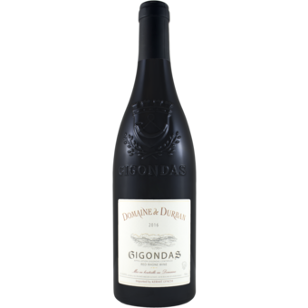 Bottle shot for 2016 Domaine De Durban Gigondas