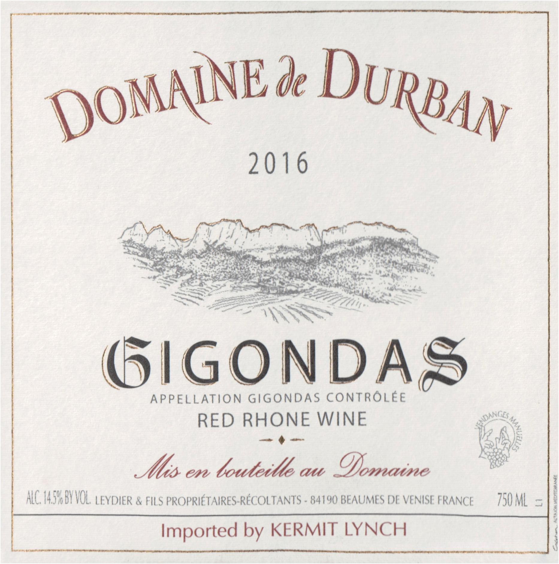 Domaine De Durban Gigondas 2016