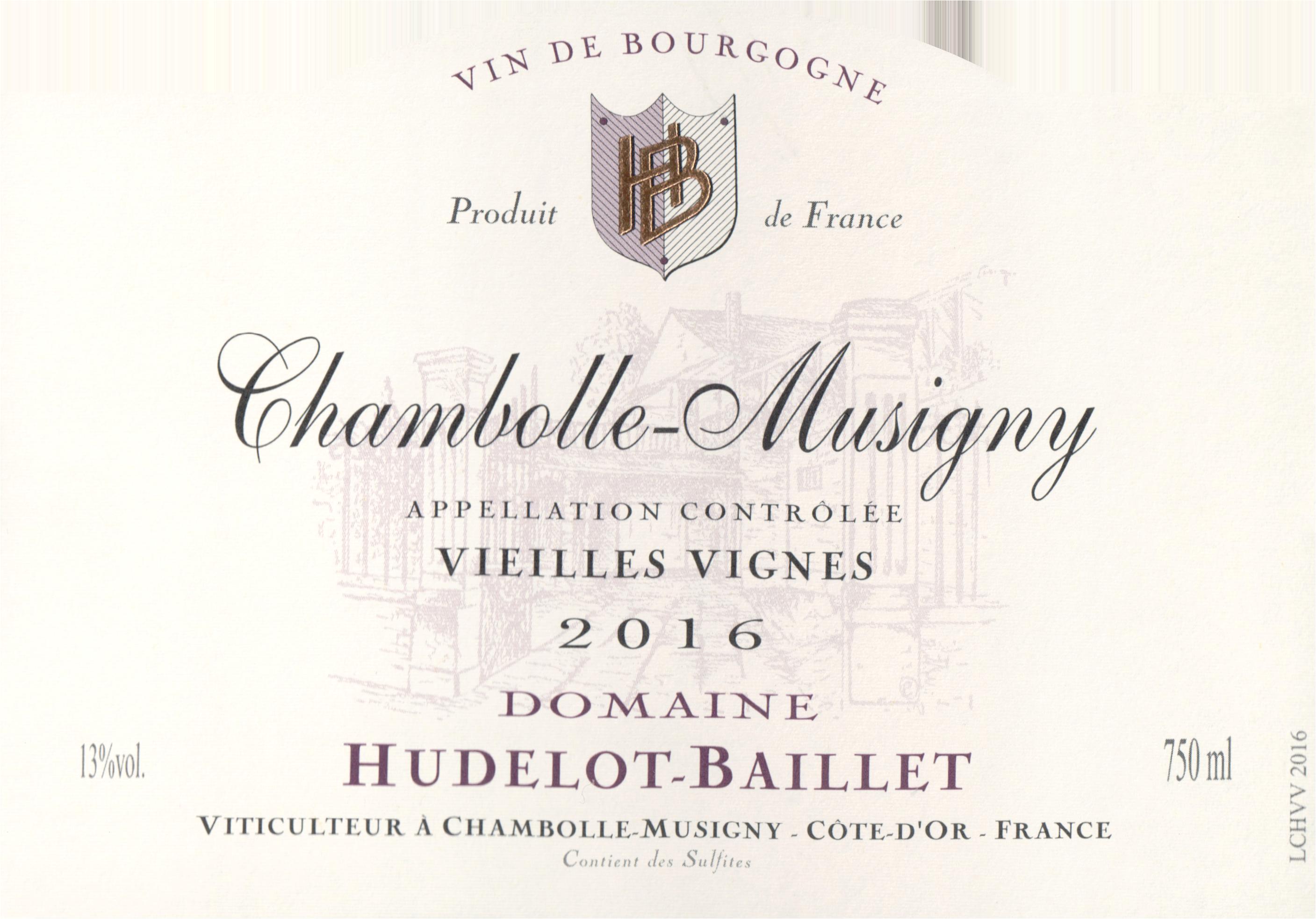 Domaine Hudelot Baillet Chambolle Musigny Vieilles Vignes 2016