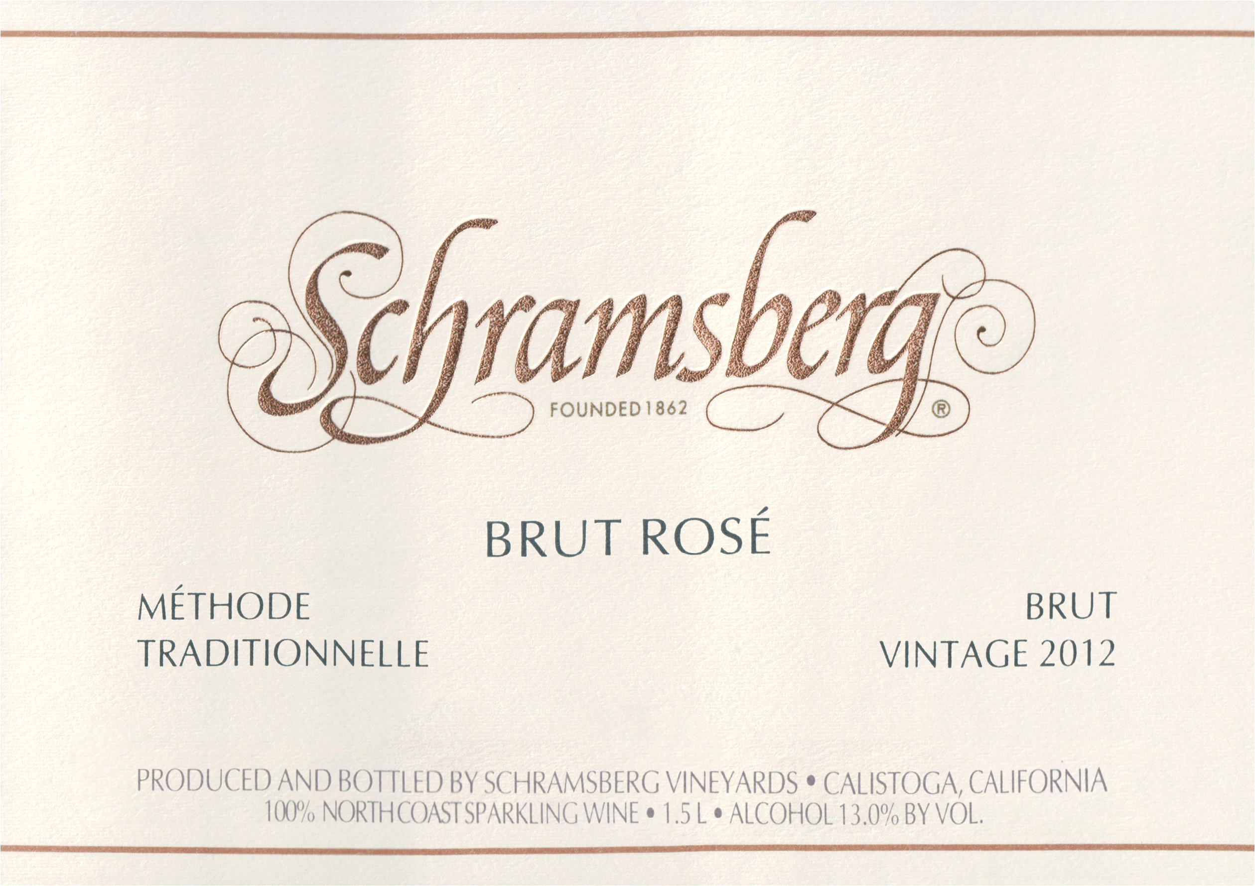 Schramsberg Brut Rose Magnum 2012