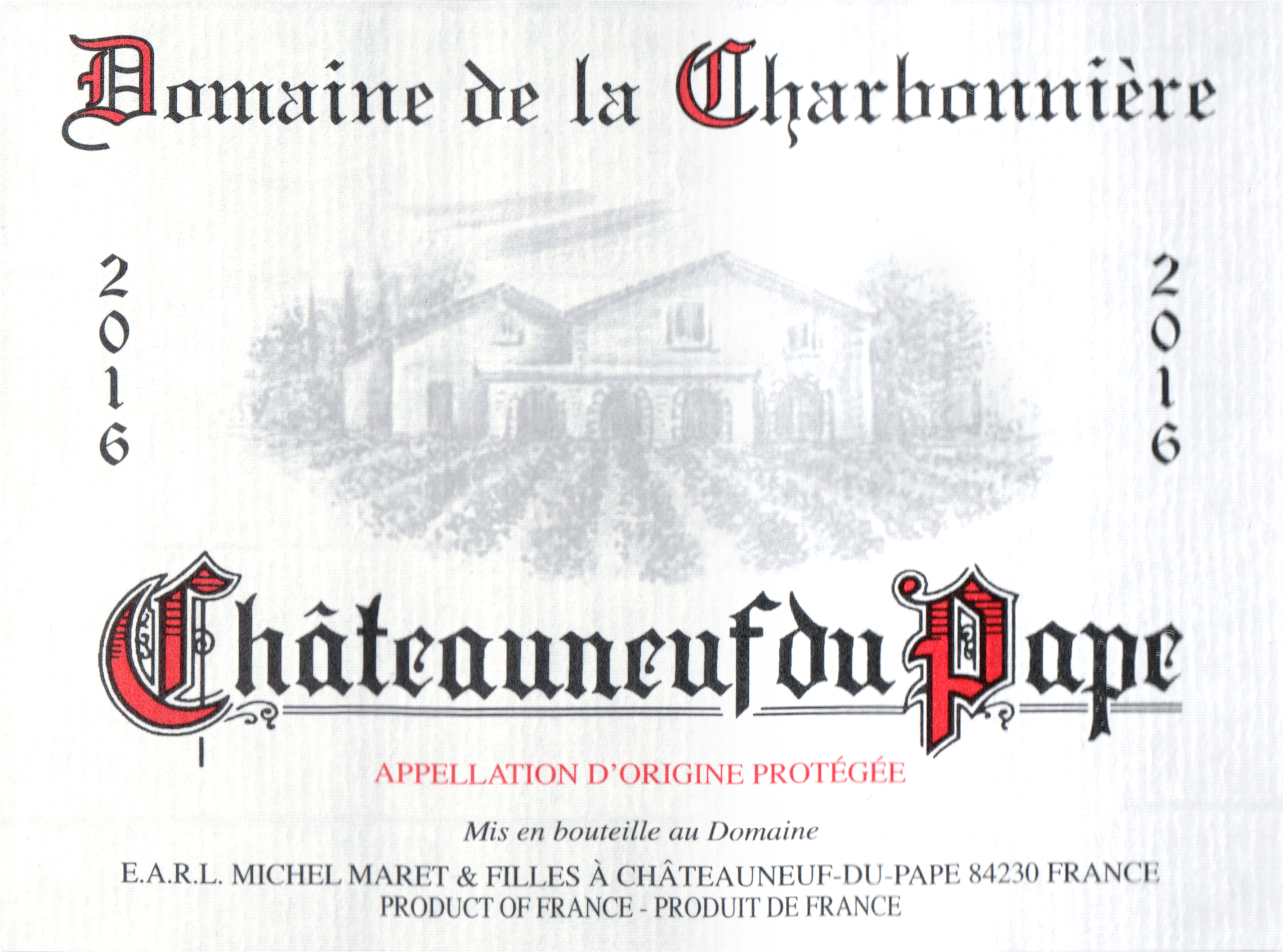 Charbonniere Tradition Chateauneuf Du Pape 2016
