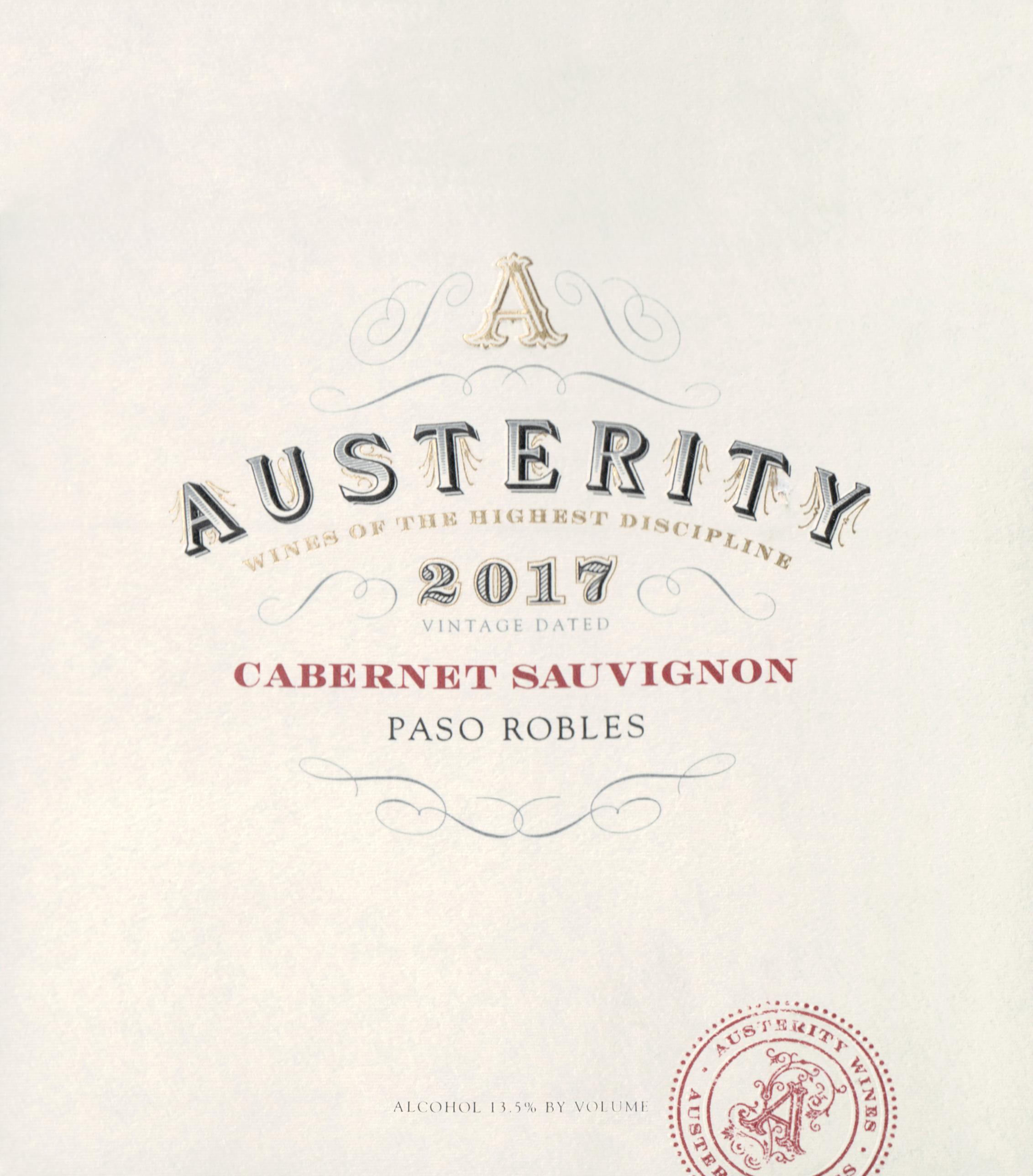 Austerity Cabernet Sauvignon 2017