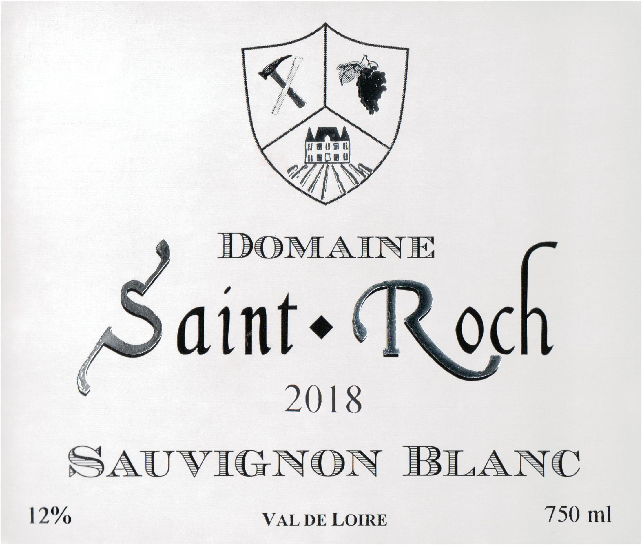 Saint Roch Touraine Sauvignon Blanc 2018