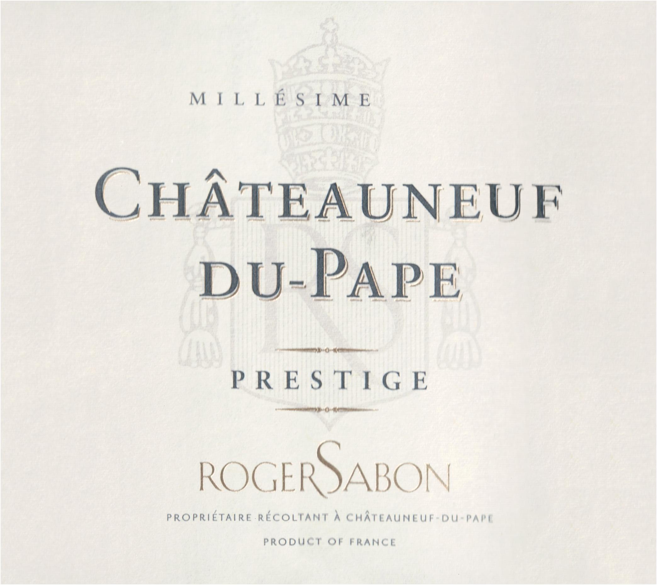 Sabon Chateauneuf Du Pape Cuvee Prestige 2017