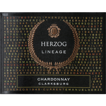 Label shot for 2017 Herzog Lineage Chardonnay