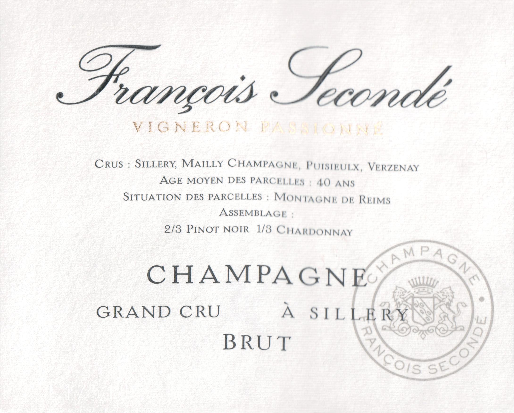 Francois Seconde Grand Cru Champagne