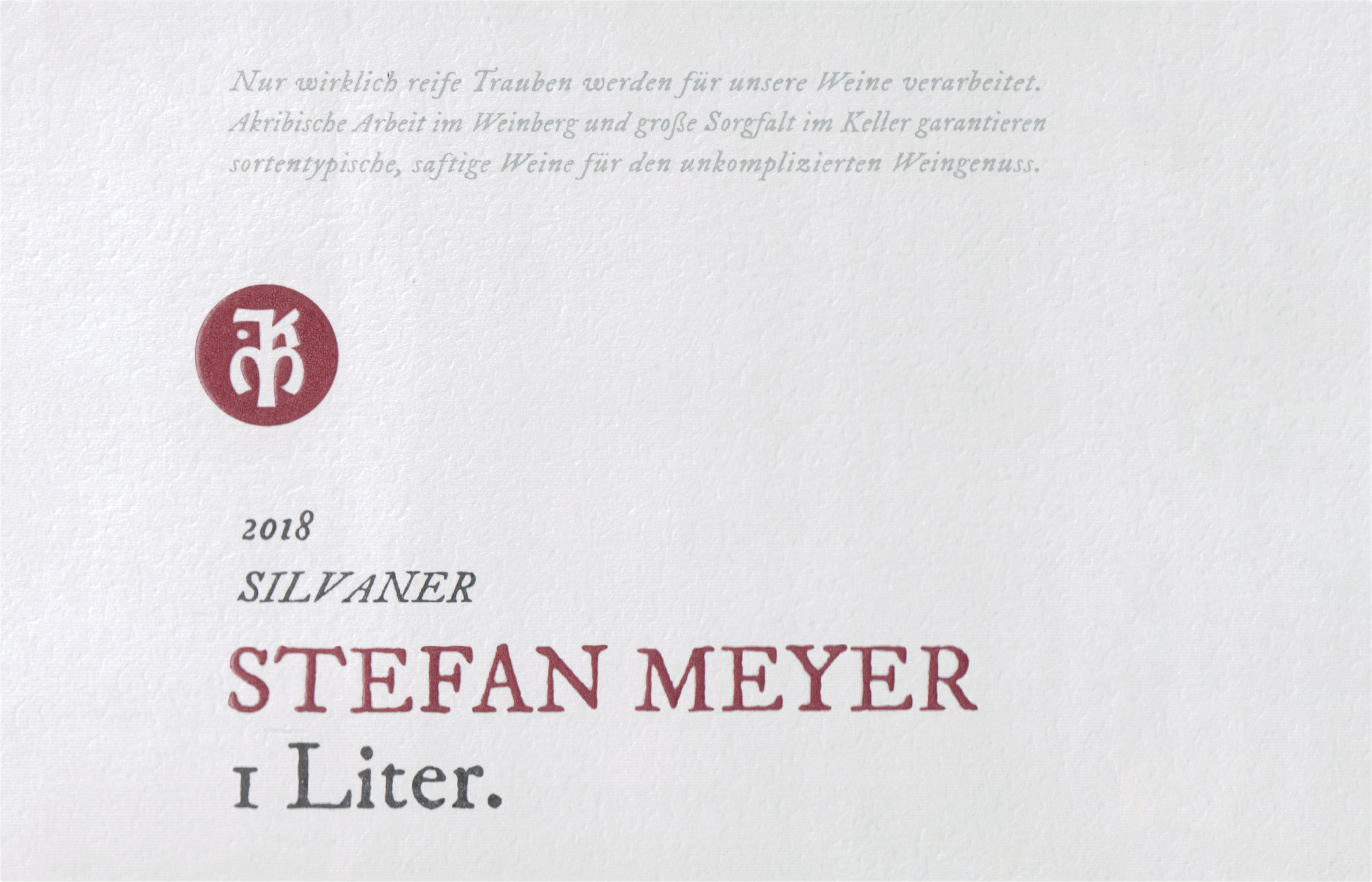 Stefan Meyer Silvaner Liter 2018