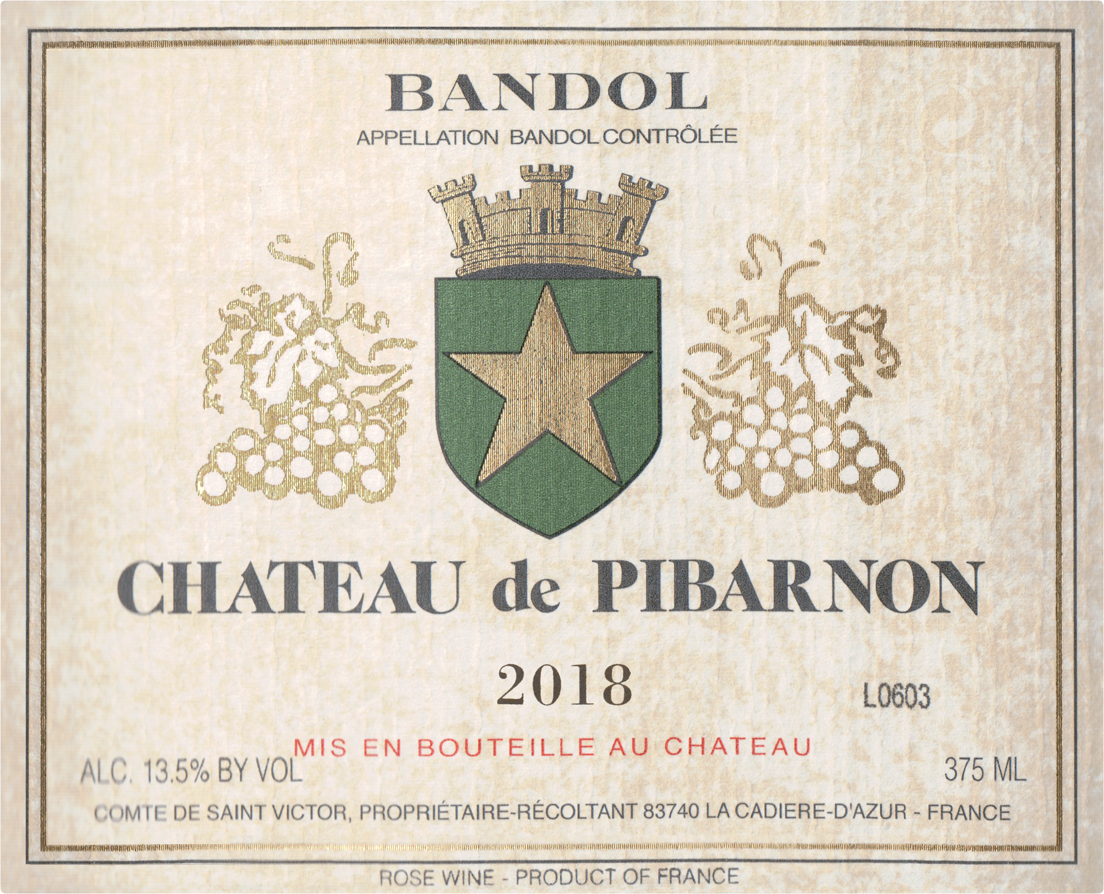 Chateau Pibarnon Bandol Rose 2018