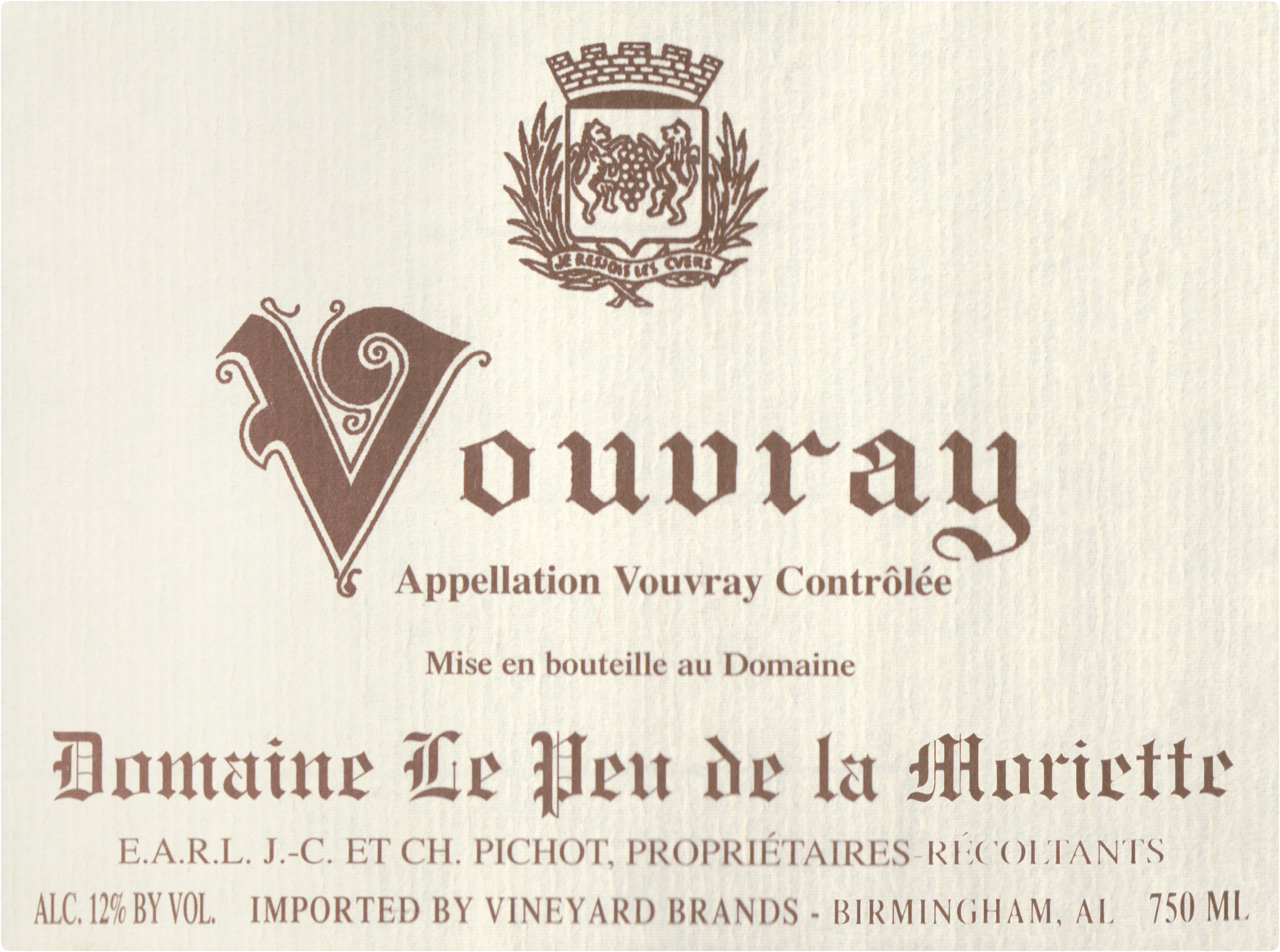 Domaine Pichot Vouvray 2018