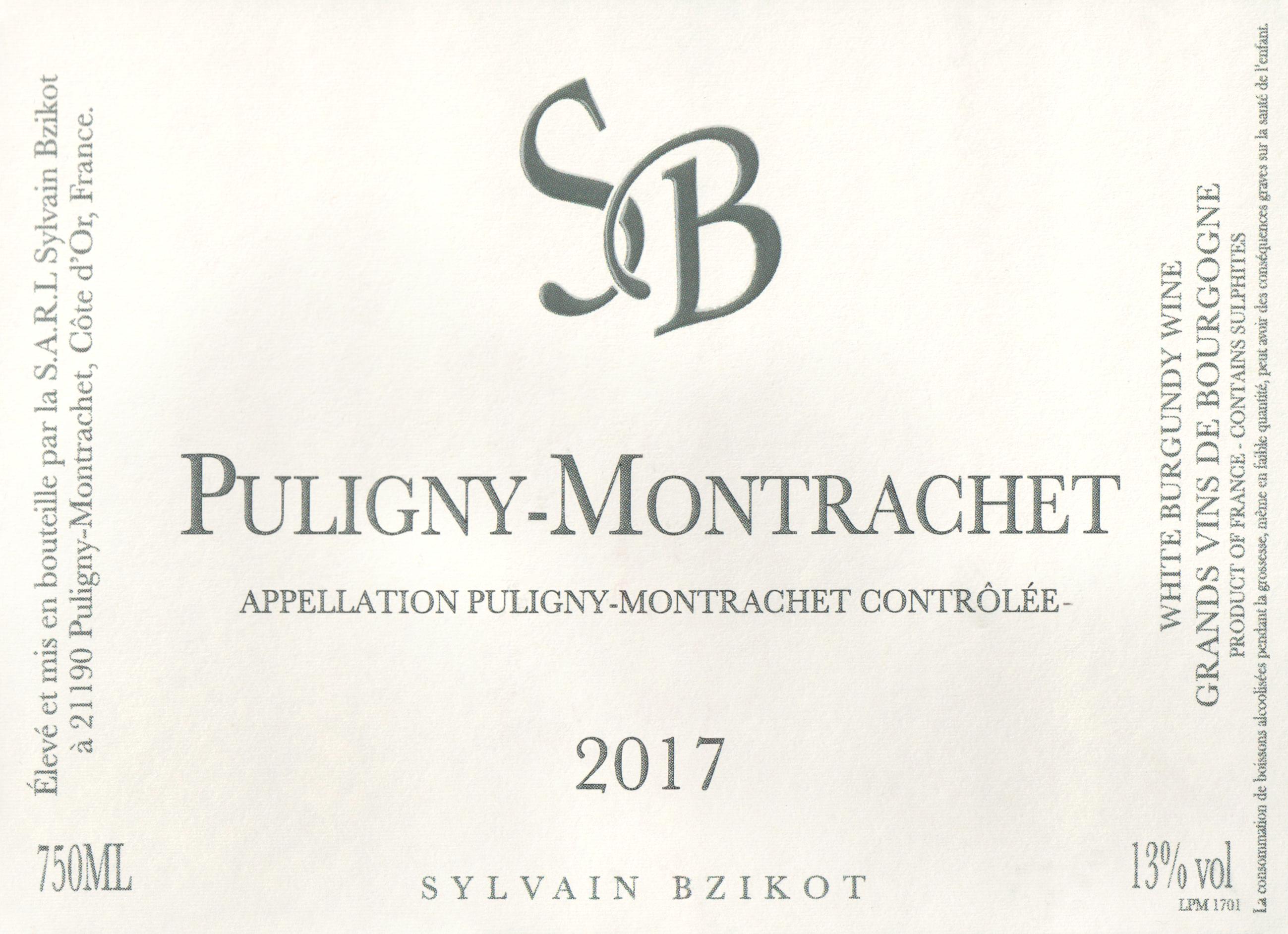Bzikot Puligny Montrachet 2017