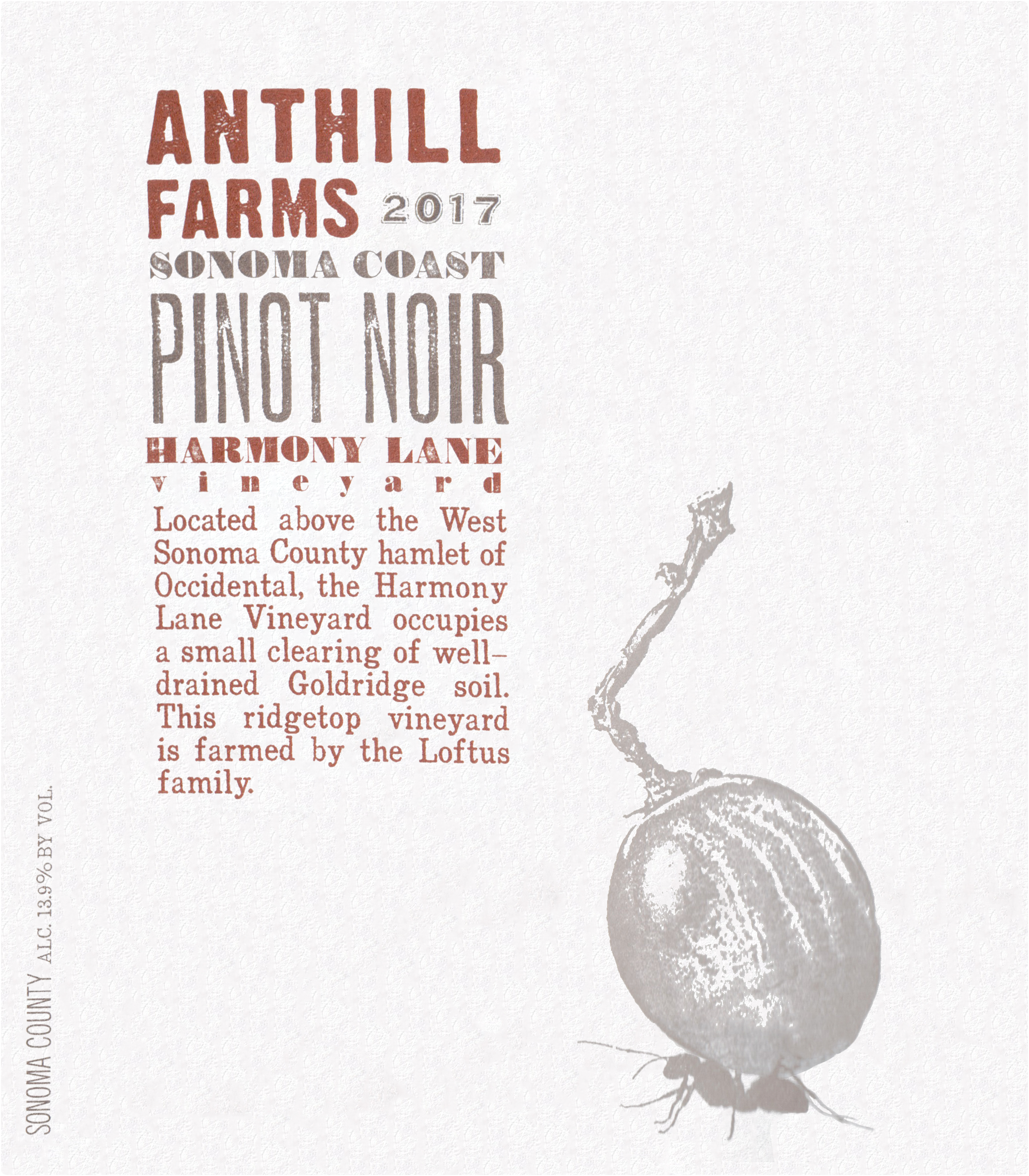 Anthill Farms Harmony Lane Pinot Noir 2017