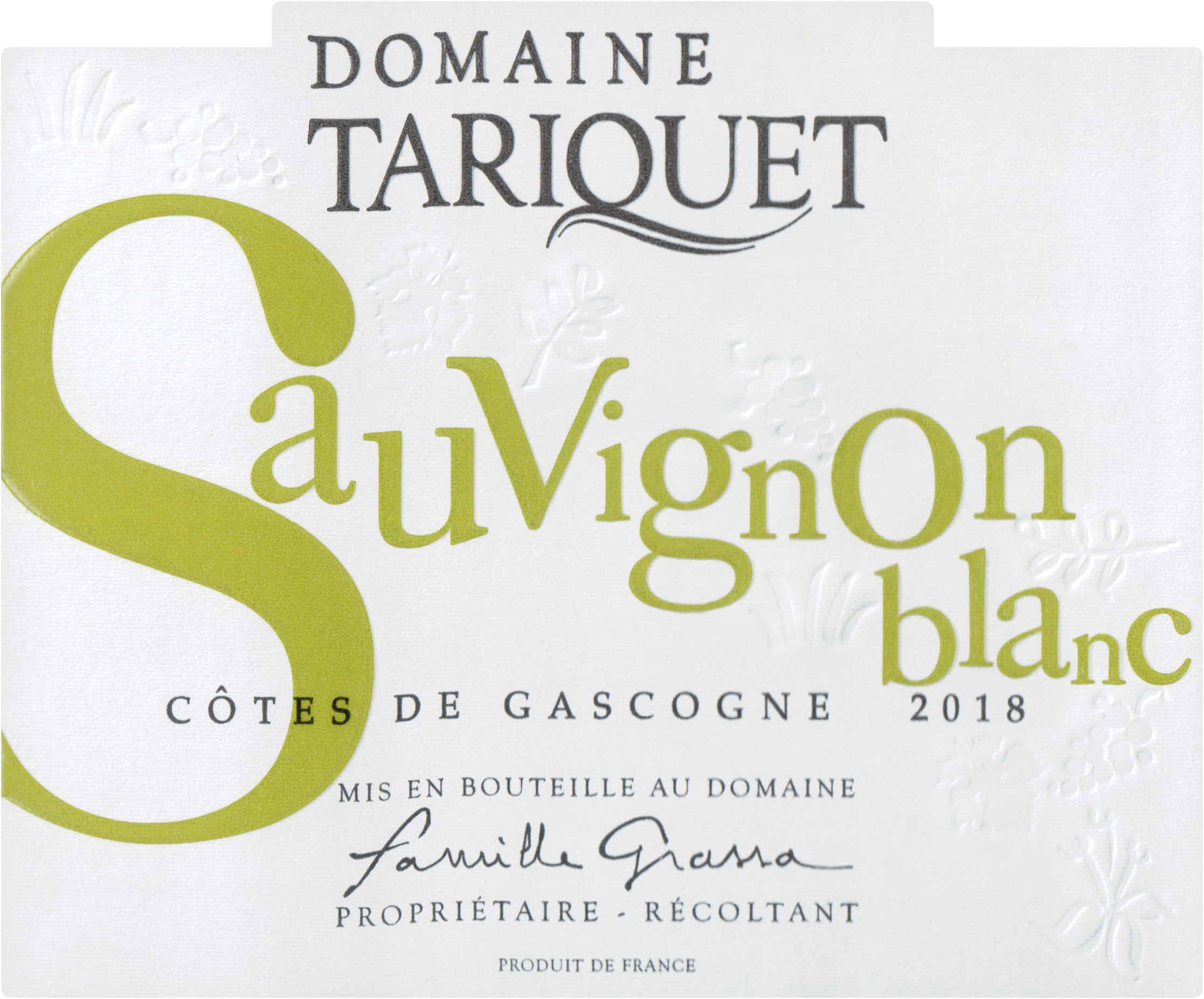 Domaine Tariquet Sauvignon Blanc 2018