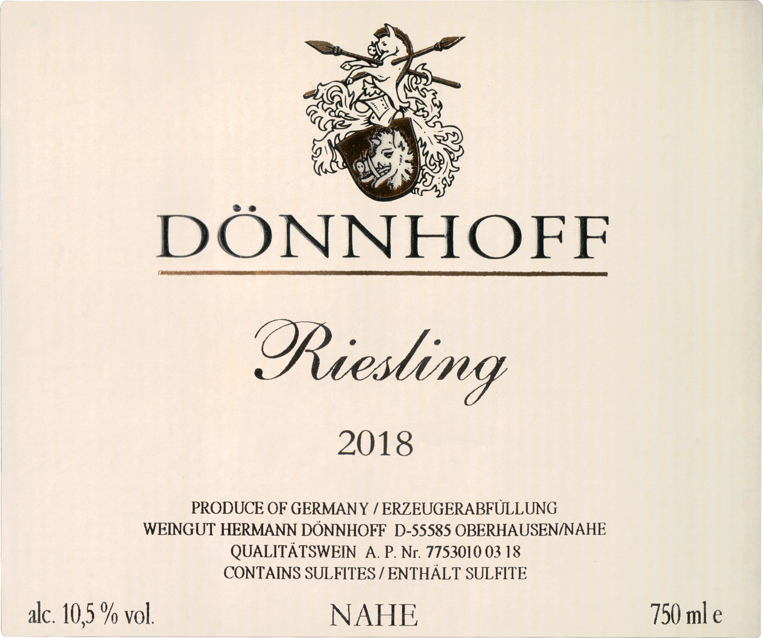 Donnhoff Estate Riesling Nahe 2018