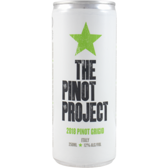 Bottle shot for 2018 Pinot Project Pinot Grigio Can