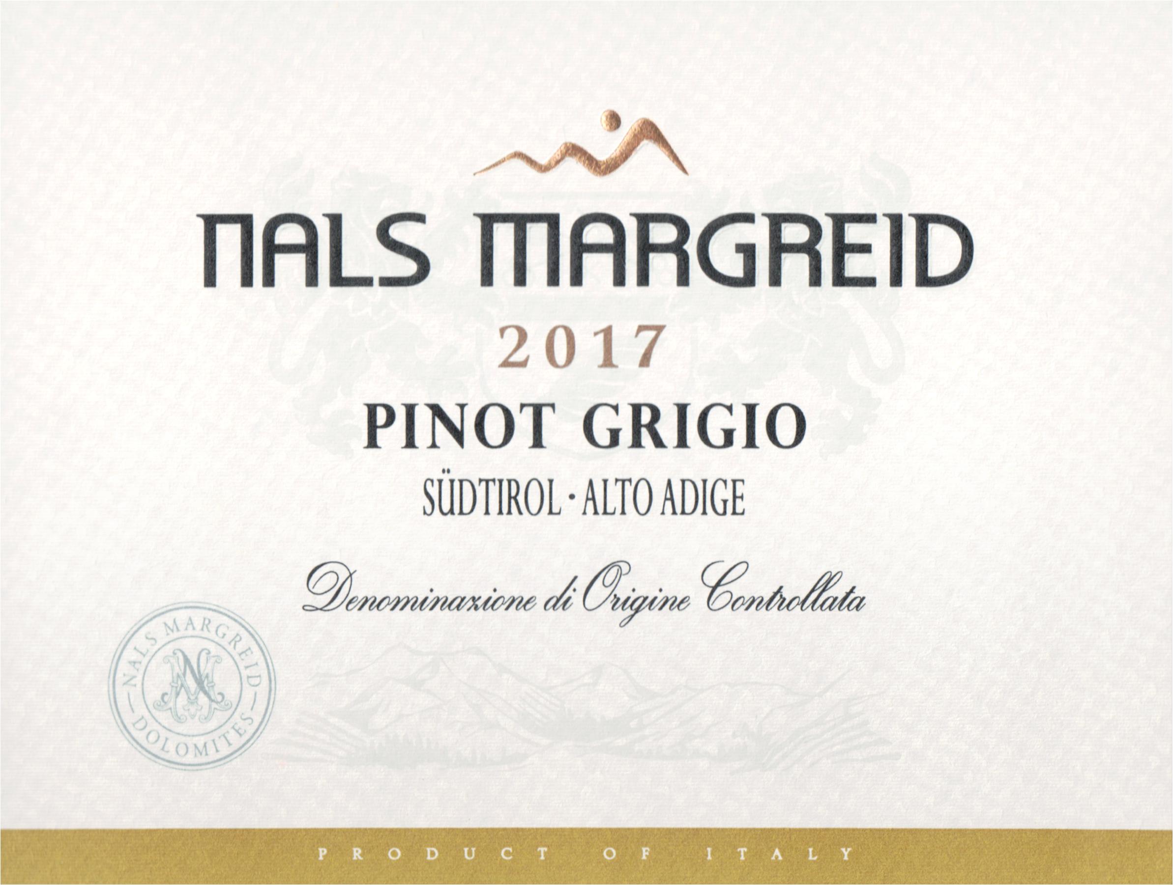 Nals Margreid Pinot Grigio Alto Adige 2017