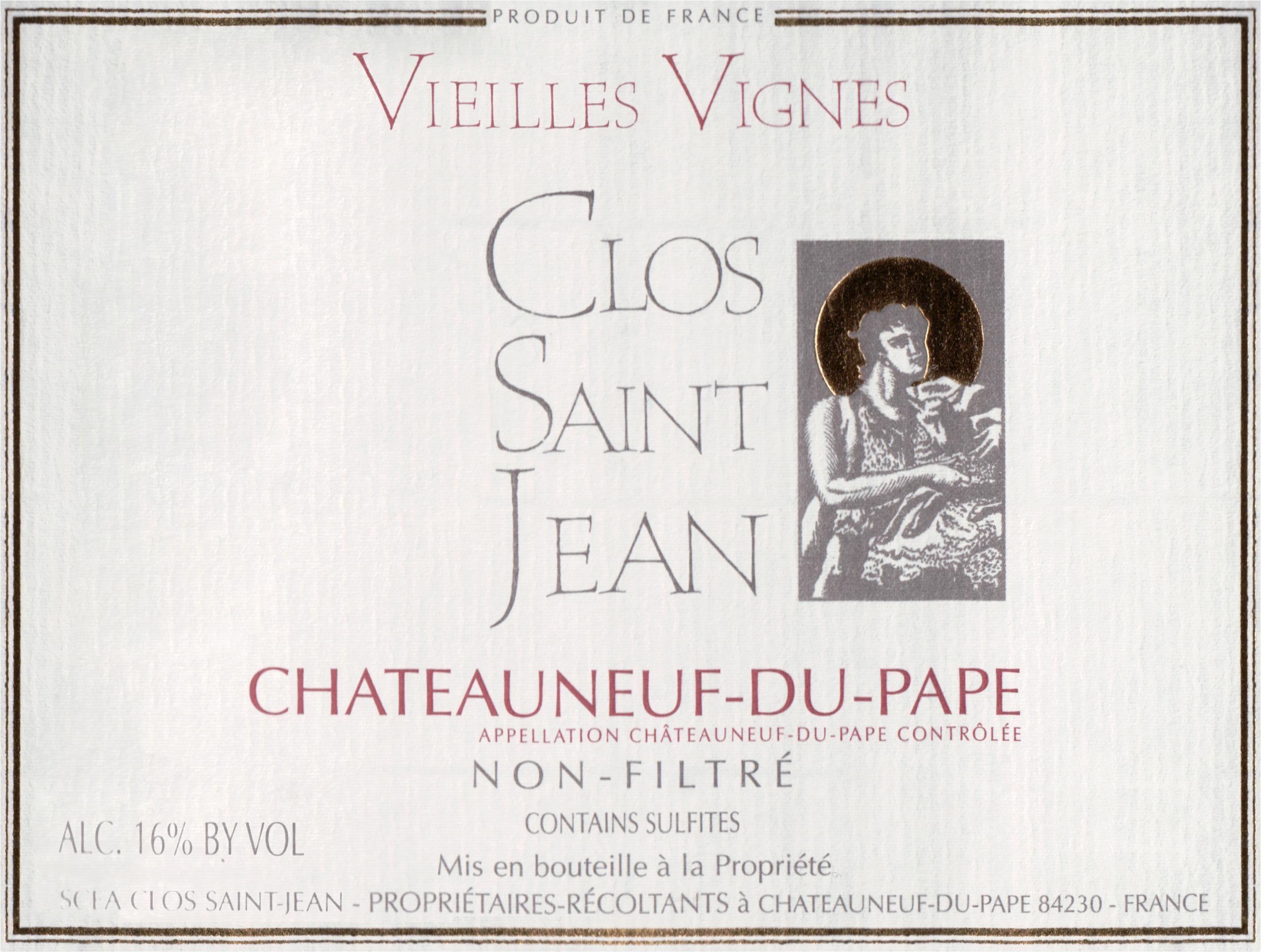 Clos St. Jean Chateauneuf Du Pape Vieilles Vignes Magnum 2017