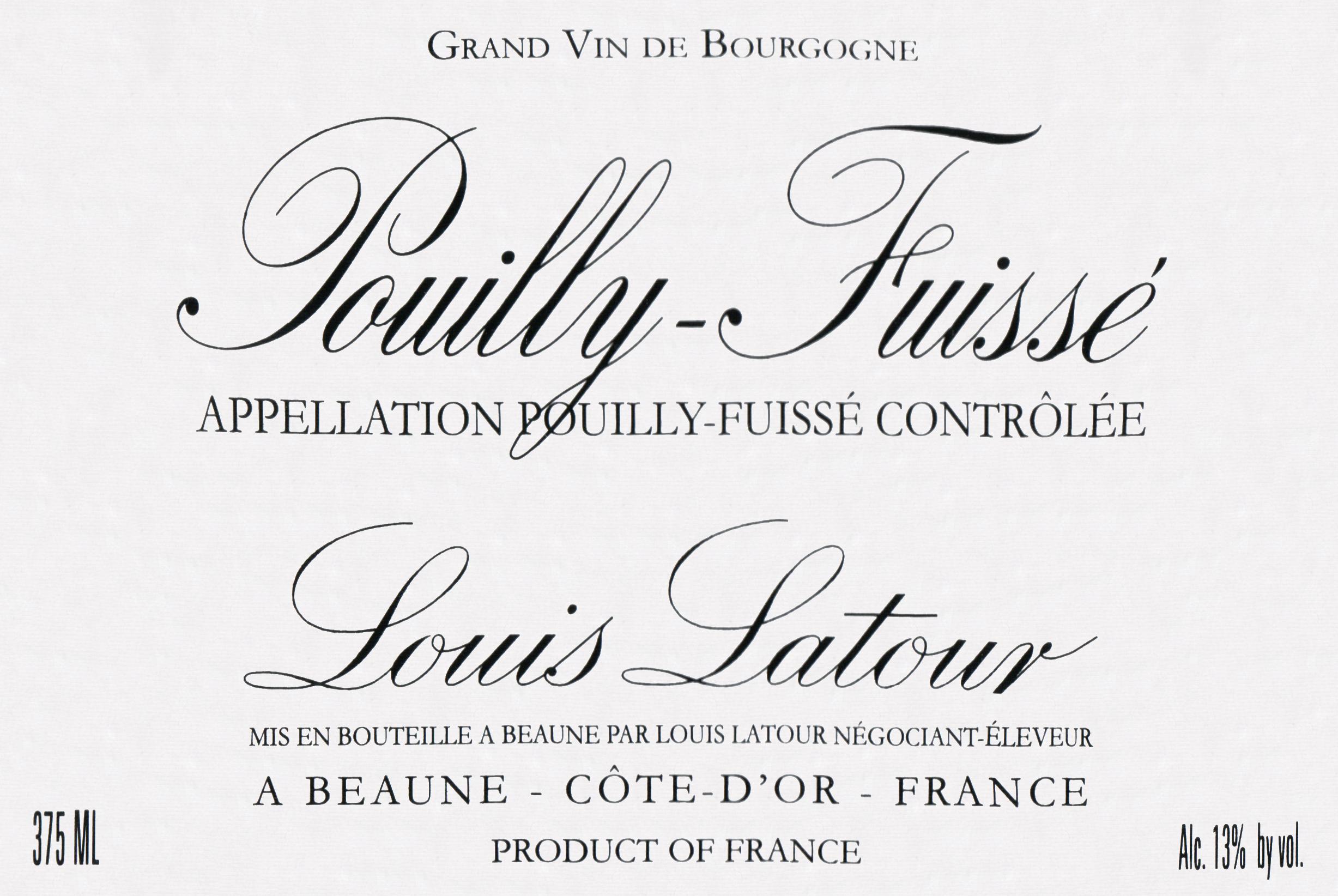 Louis Latour Pouilly Fuisse 2017