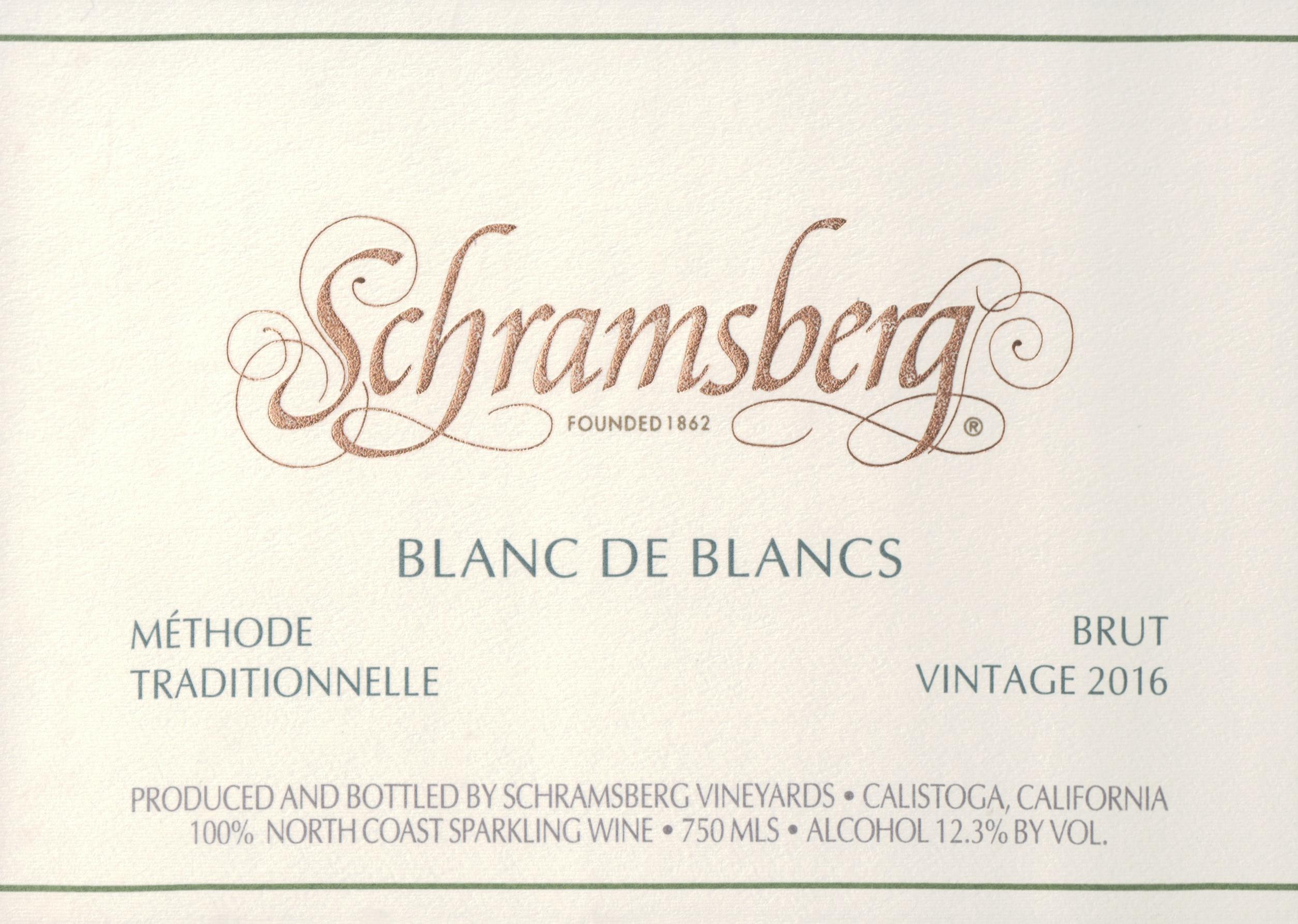 Schramsberg Blanc De Blanc 2016