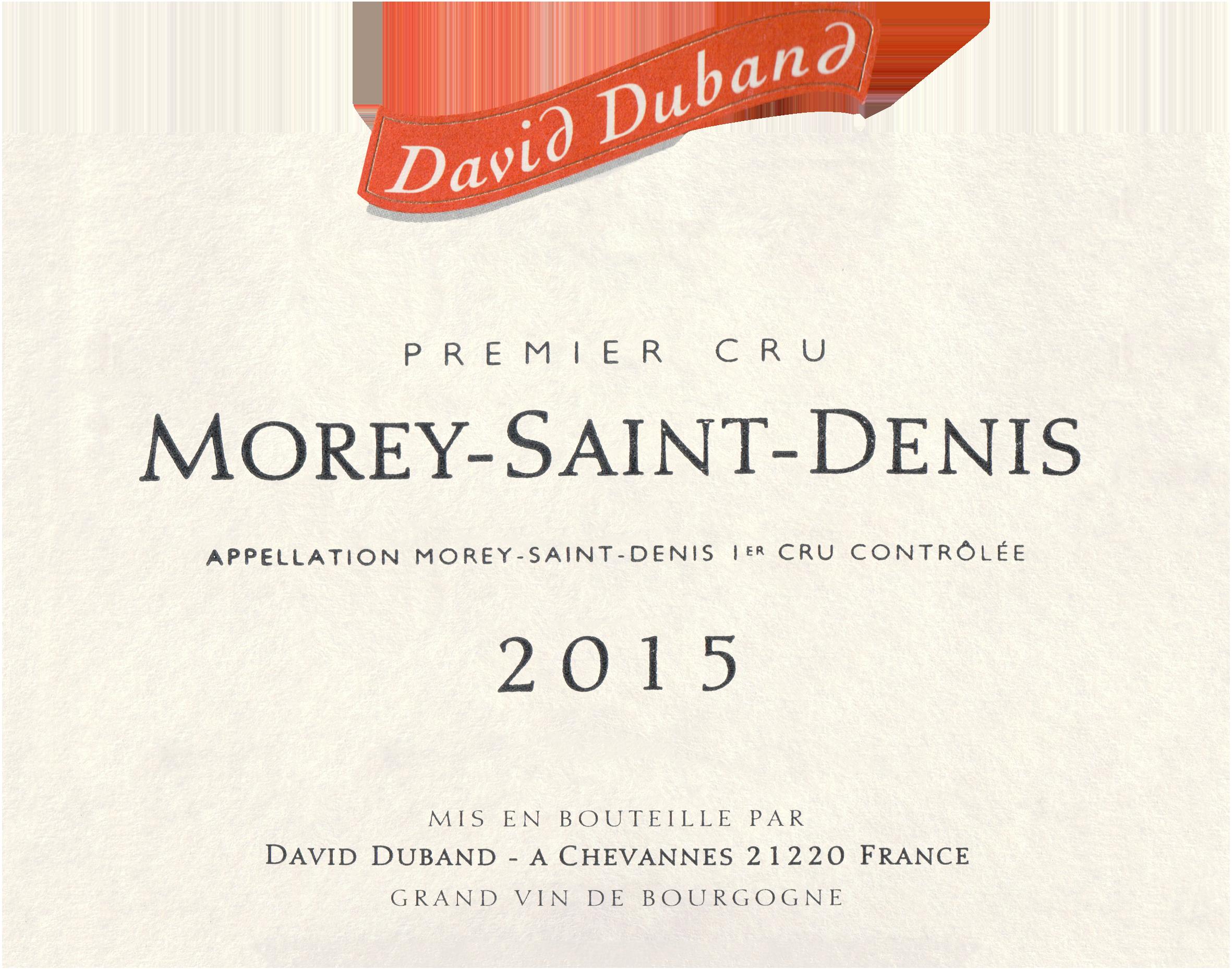 David Duband Morey St Denis 1er Cru 2015