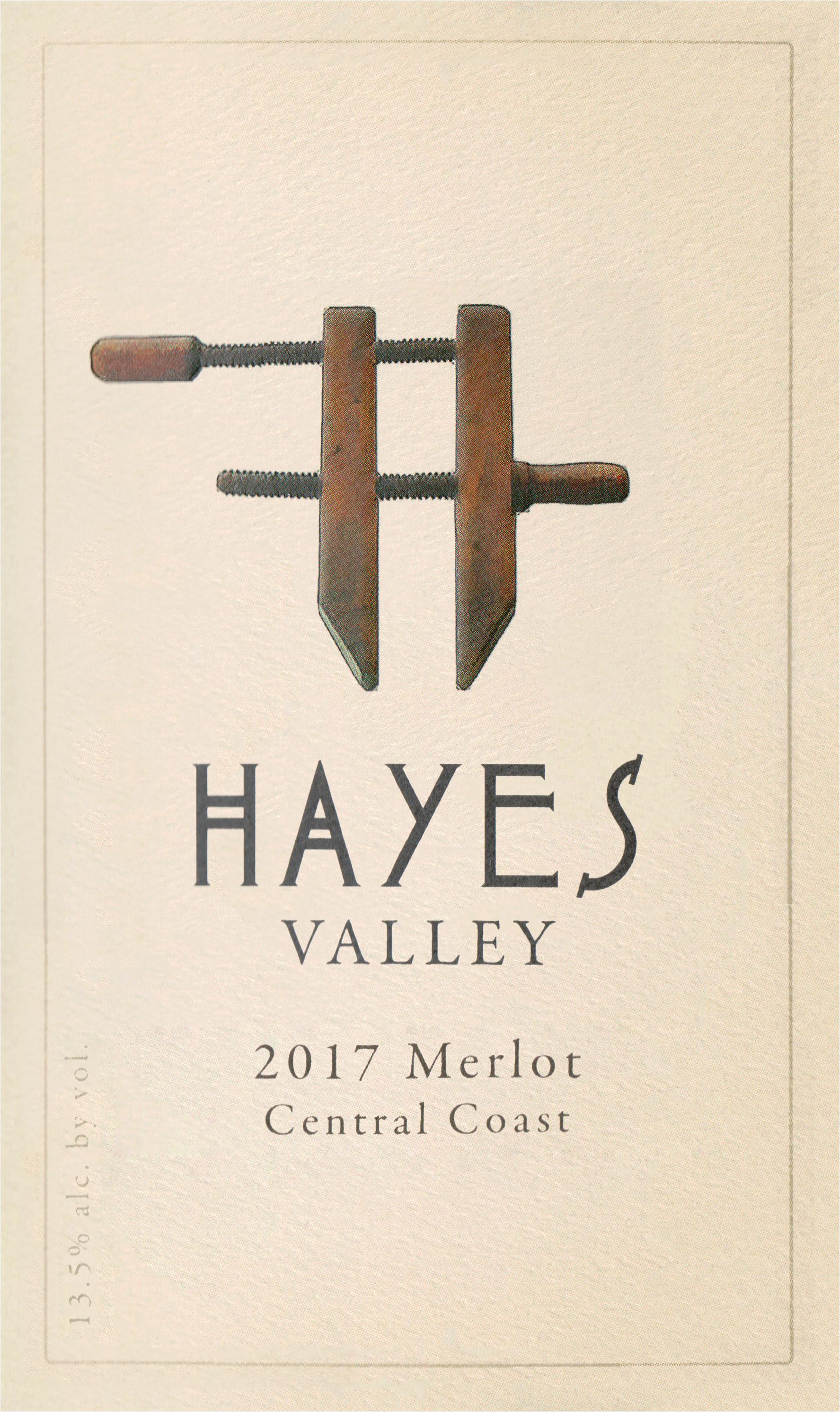 Hayes Valley Merlot Central Coast 2017