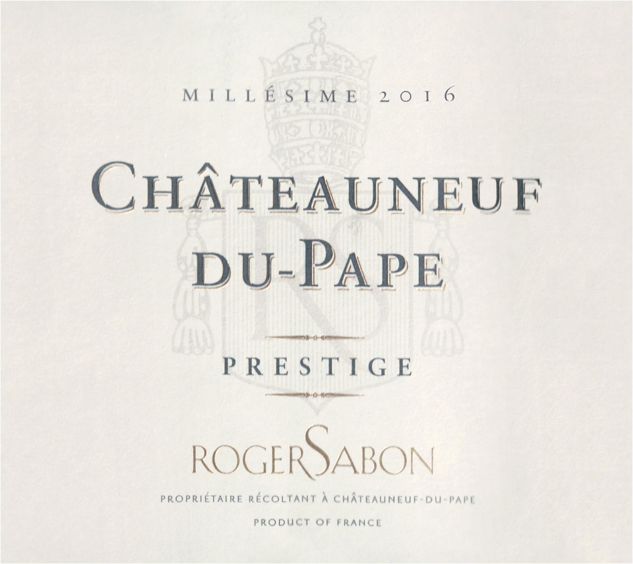 Sabon Chateauneuf Du Pape Cuvee Prestige 2016