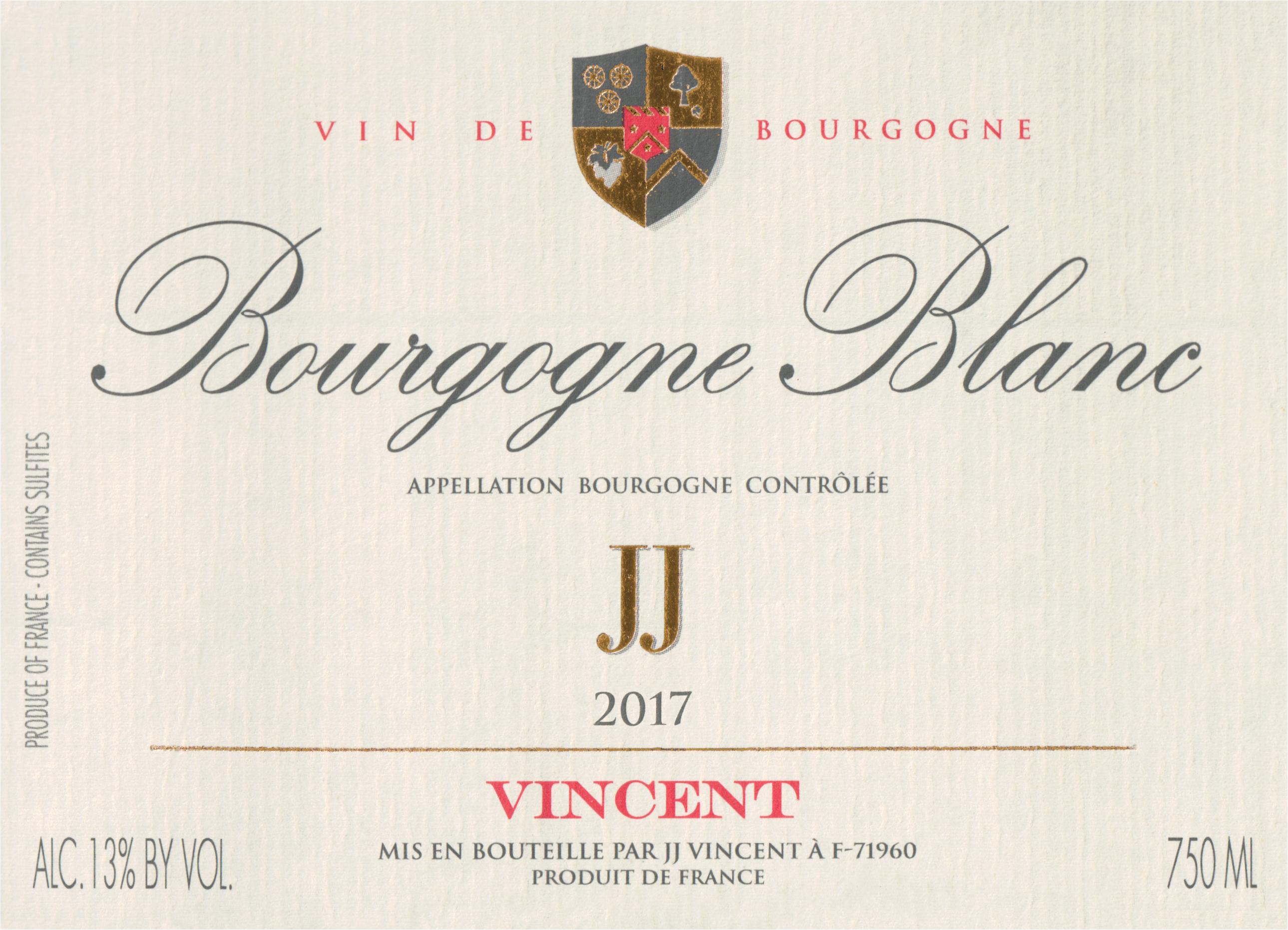 Jj Vincent Bourgogne Blanc 2017
