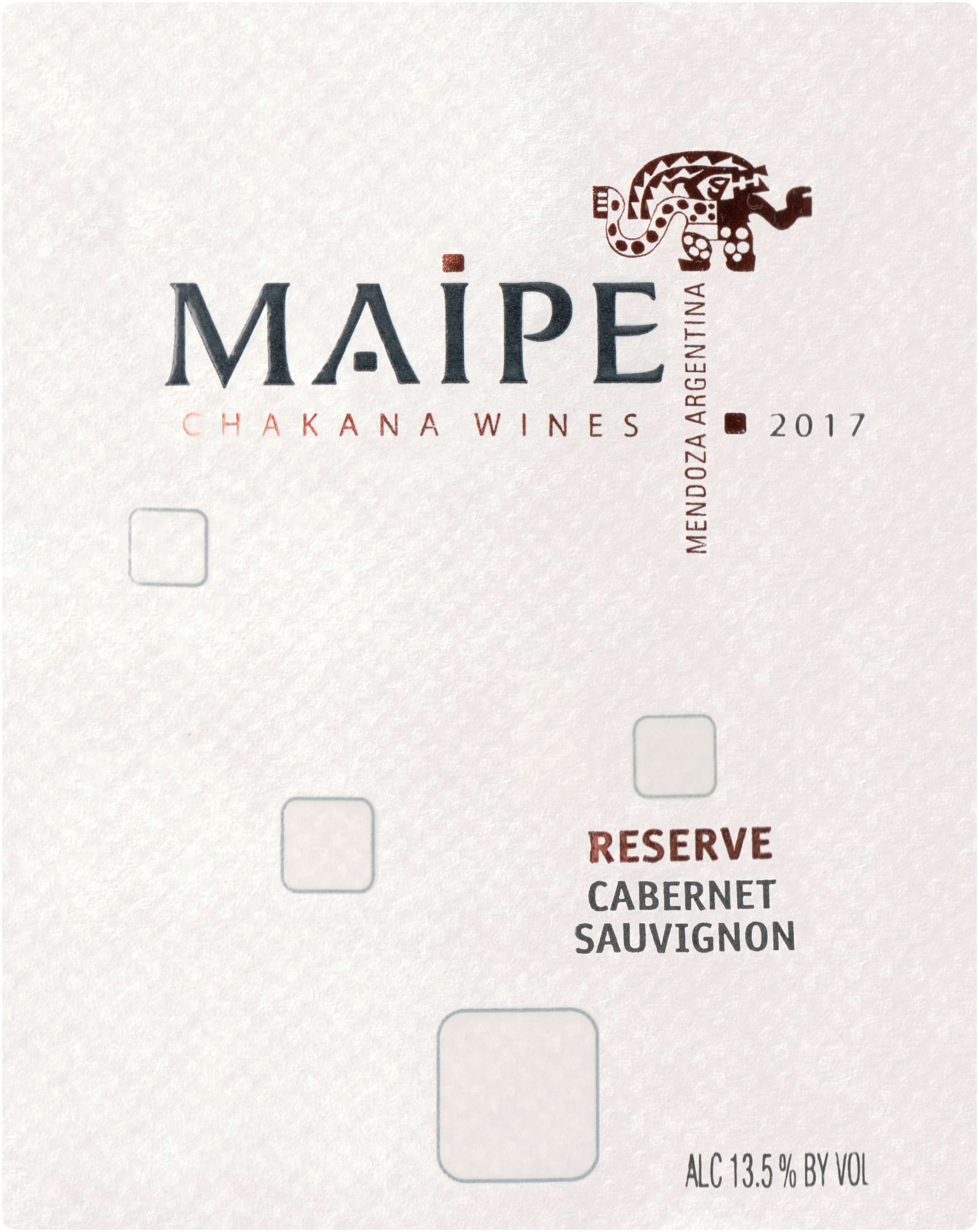 Chakana Maipe Cabernet Reserva Mendoza 2017