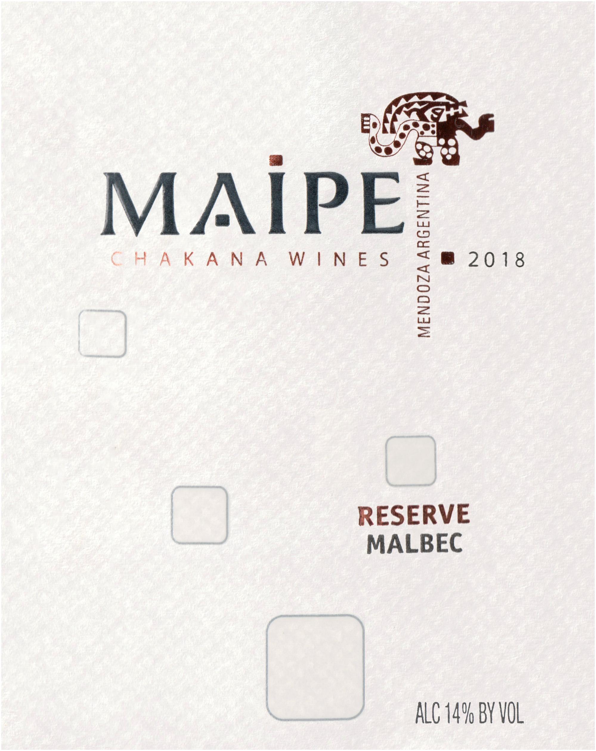 Maipe Malbec Reserve Lujan De Cuyo 2018