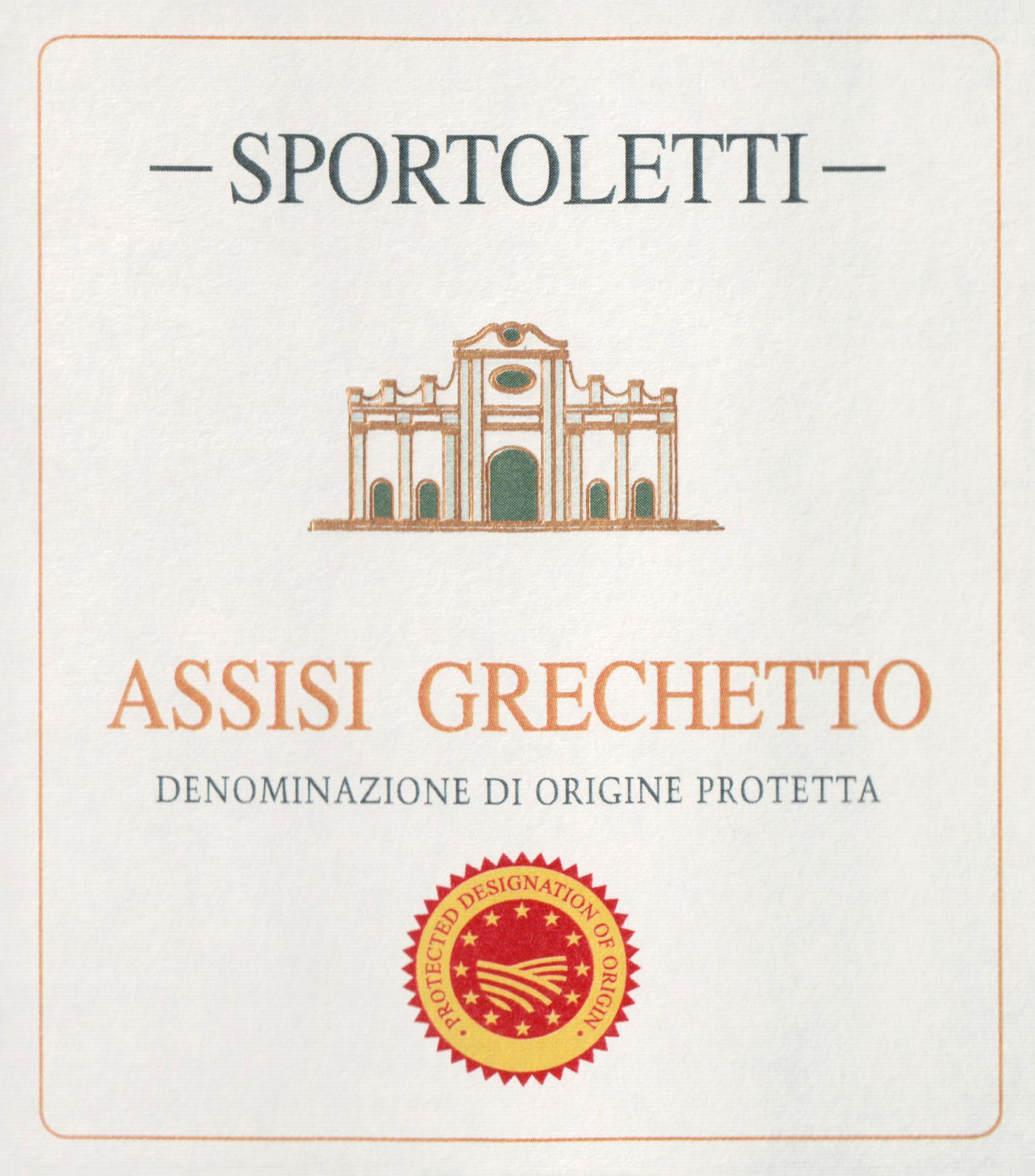 Sportoletti Assisi Grechetto Bianco 2018